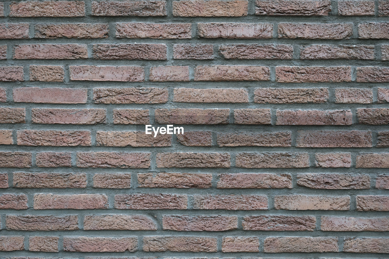 backgrounds, full frame, pattern, textured, wall - building feature, built structure, brick, wall, brick wall, architecture, no people, day, outdoors, close-up, building exterior, repetition, rough, brown, design, shape
