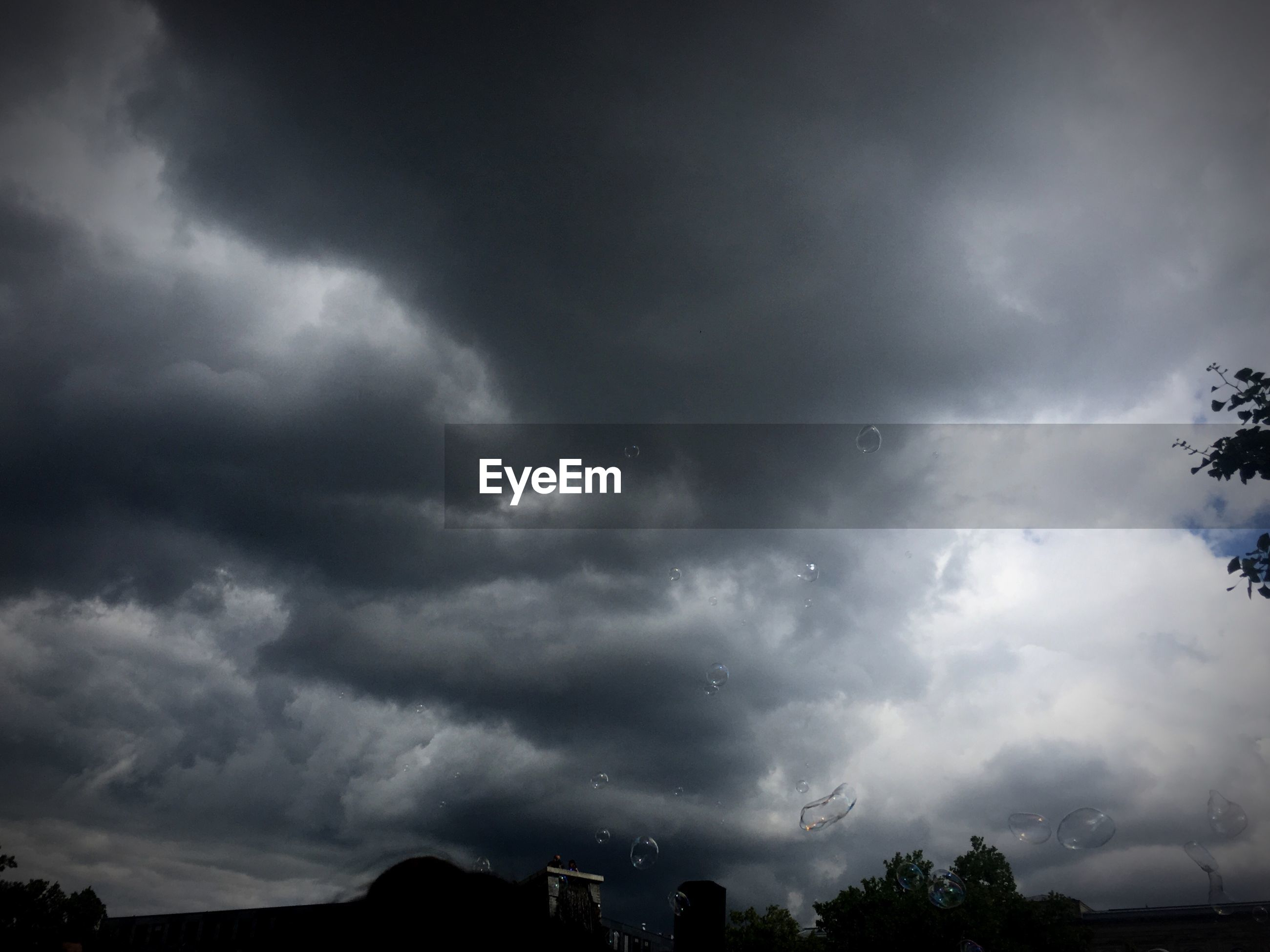 LOW ANGLE VIEW OF STORM CLOUDS