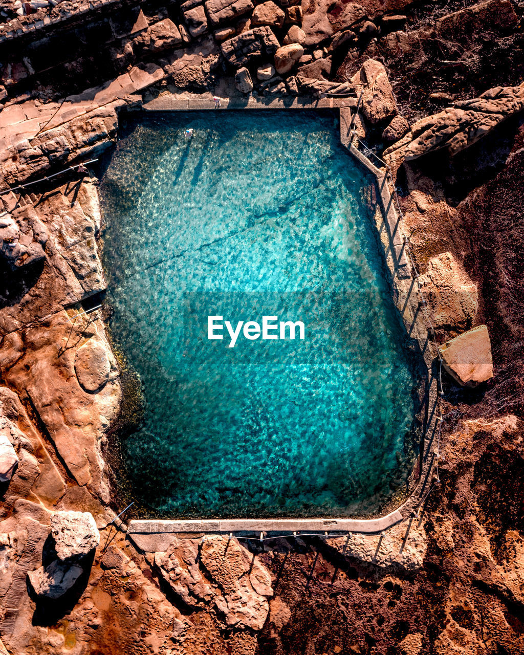 Directly above shot of swimming pool
