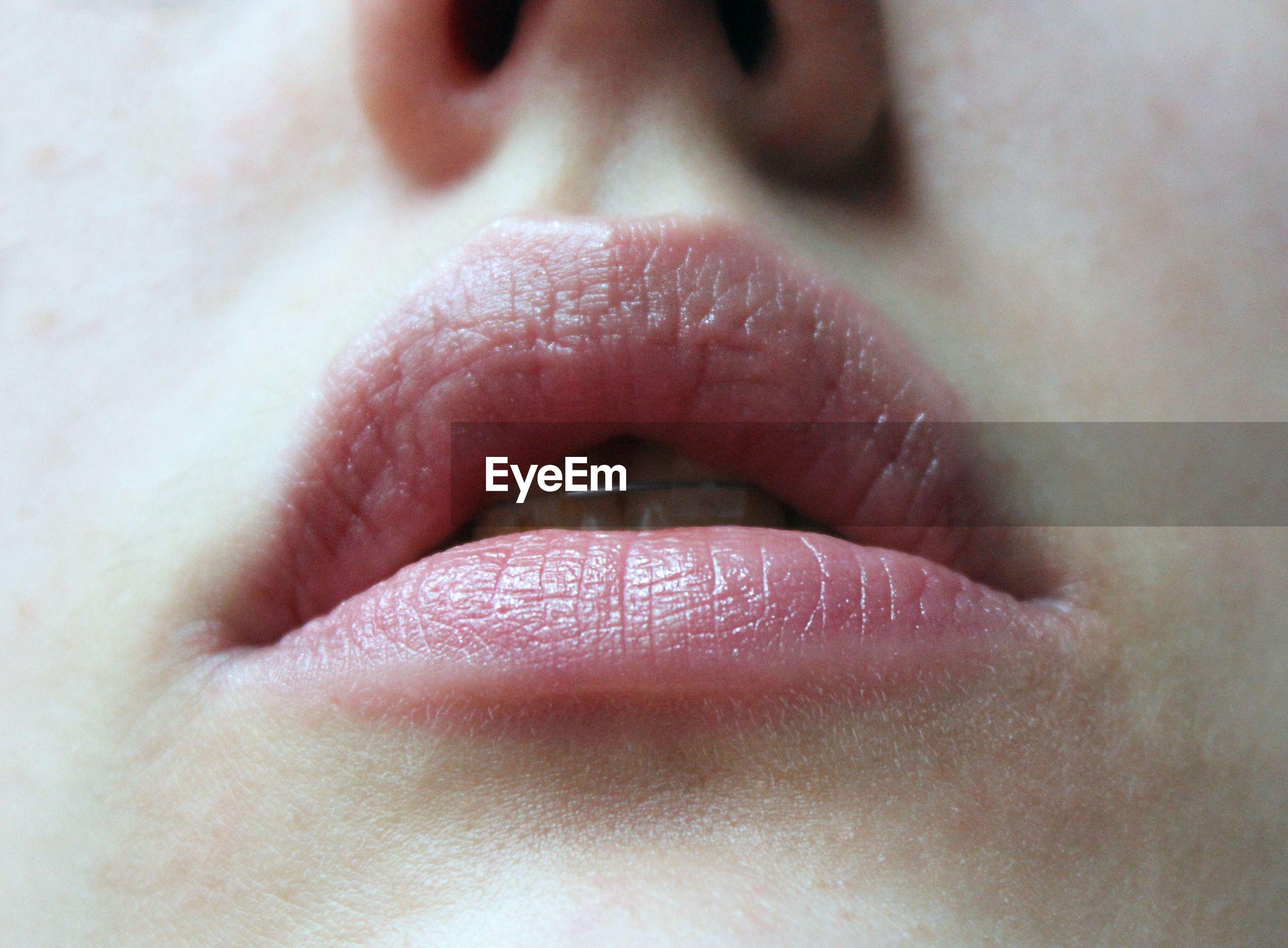 Close-up of lip