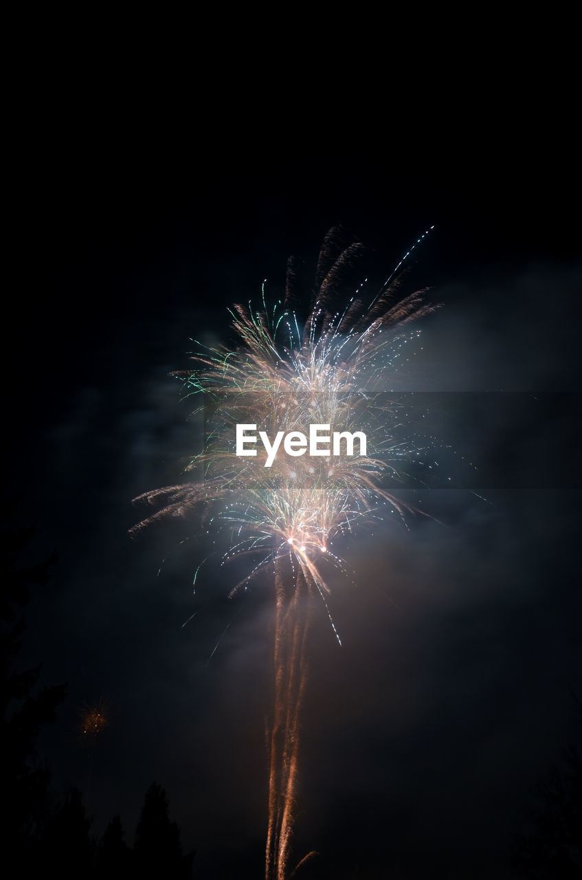 firework, celebration, night, illuminated, event, firework display, motion, exploding, low angle view, long exposure, glowing, sky, arts culture and entertainment, light, nature, firework - man made object, blurred motion, no people, celebration event, smoke - physical structure, outdoors, sparks