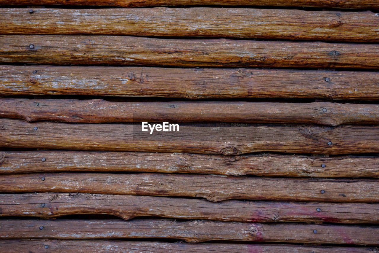 backgrounds, pattern, wood - material, full frame, textured, no people, close-up, wood grain, brown, plank, wood, timber, food and drink, wall - building feature, rough, natural pattern, weathered, old, barrier, in a row