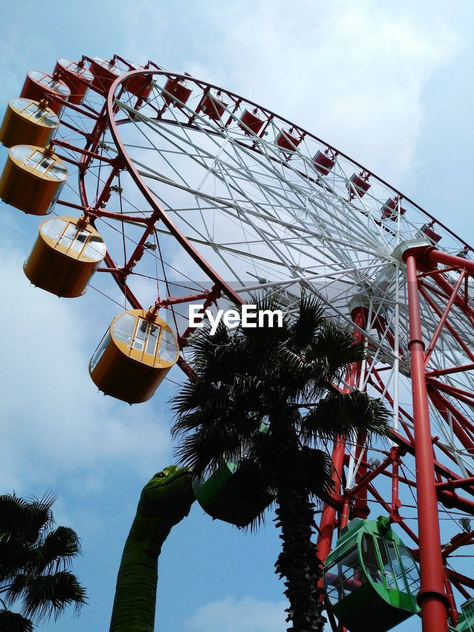 Low Angle View Of Ferries Wheel Against Sky