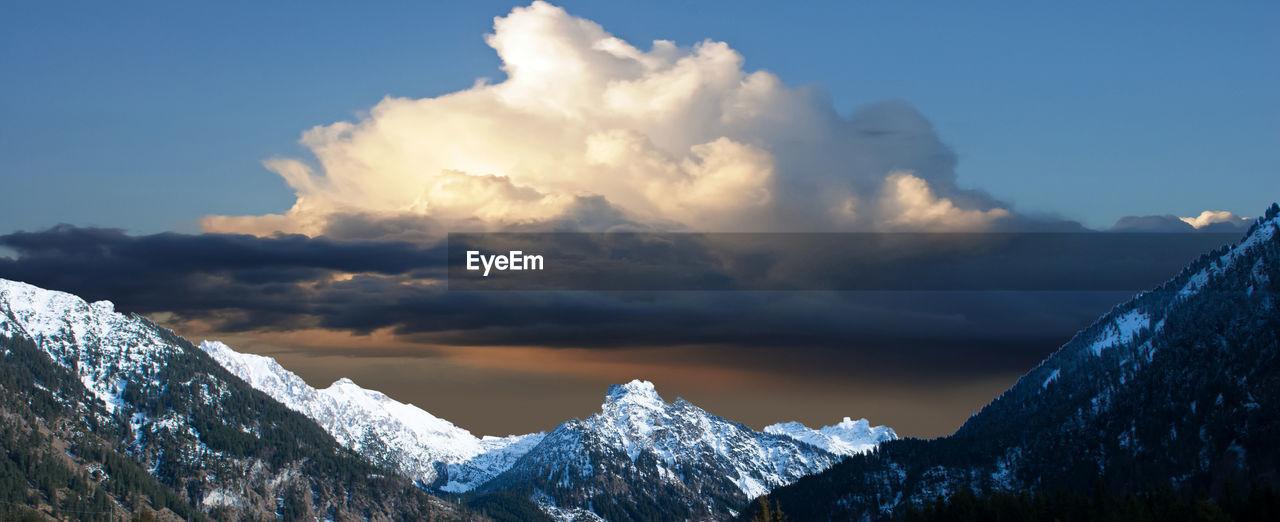 Panoramic view of allgäu alps against sky