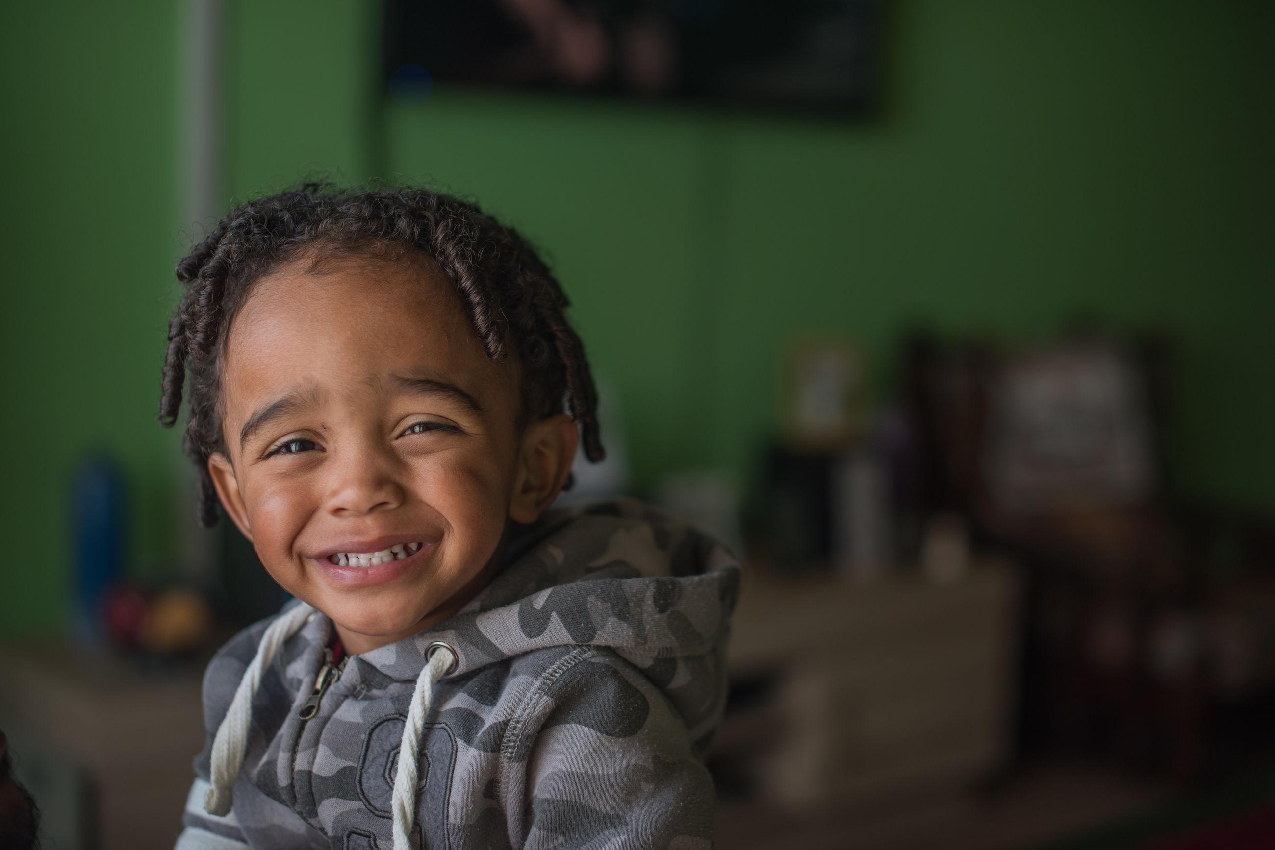 Portrait of cute boy smiling