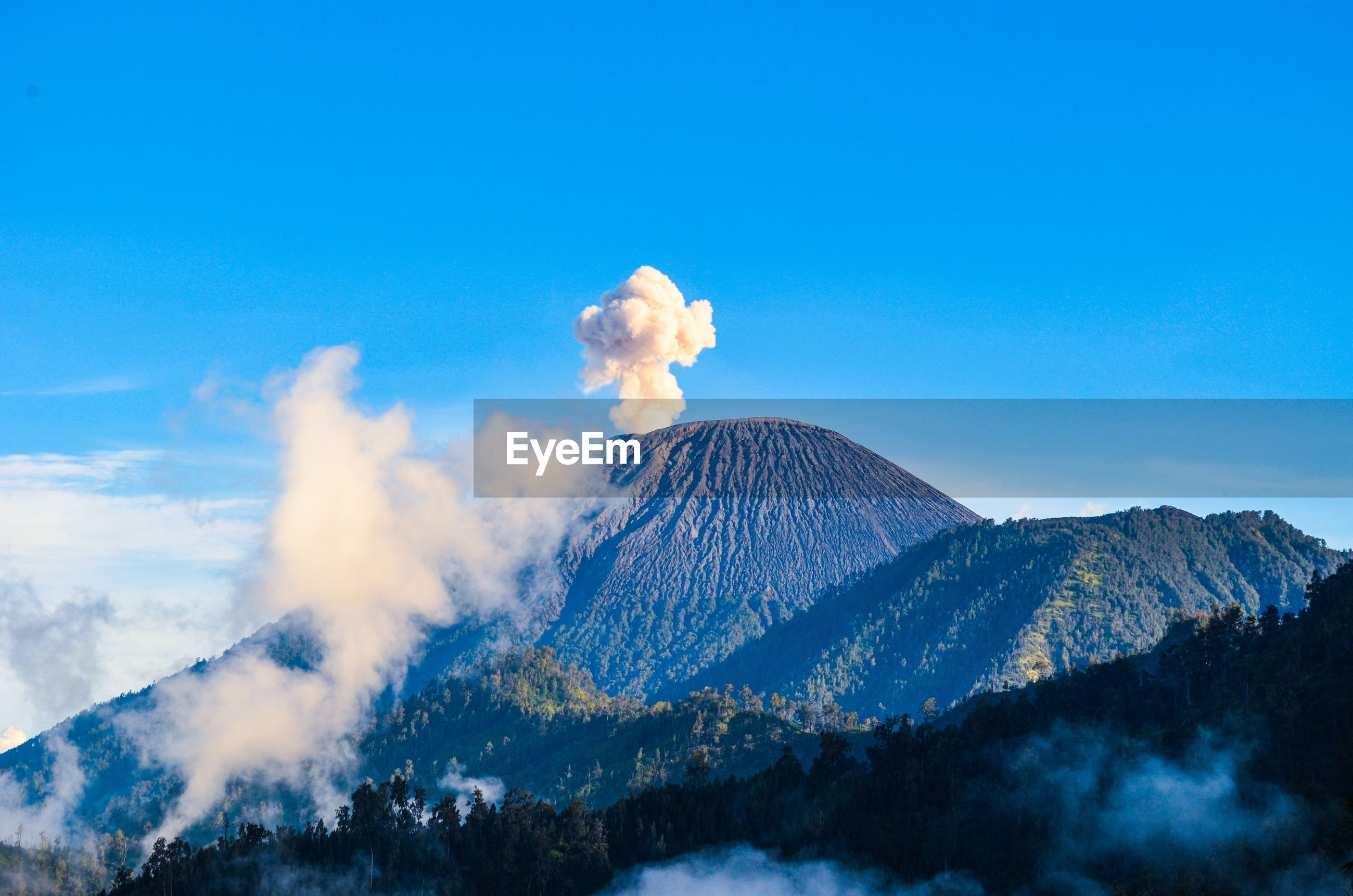 Mount semeru is active volcano on the island of java, with its peak 12,060 ft above sea level.