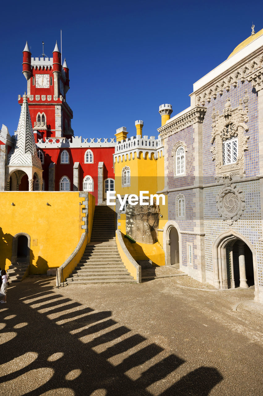 Pena Palace Against Clear Blue Sky