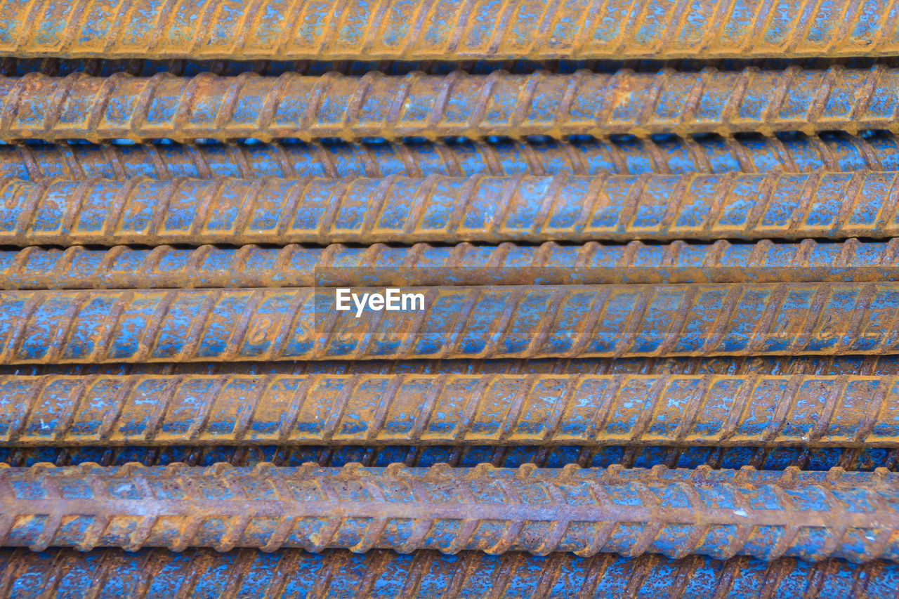 backgrounds, full frame, pattern, no people, close-up, repetition, textured, metal, rusty, day, design, textile, architecture, blue, industry, outdoors, abstract, roof tile, built structure, high angle view, sheet metal, iron, corrugated