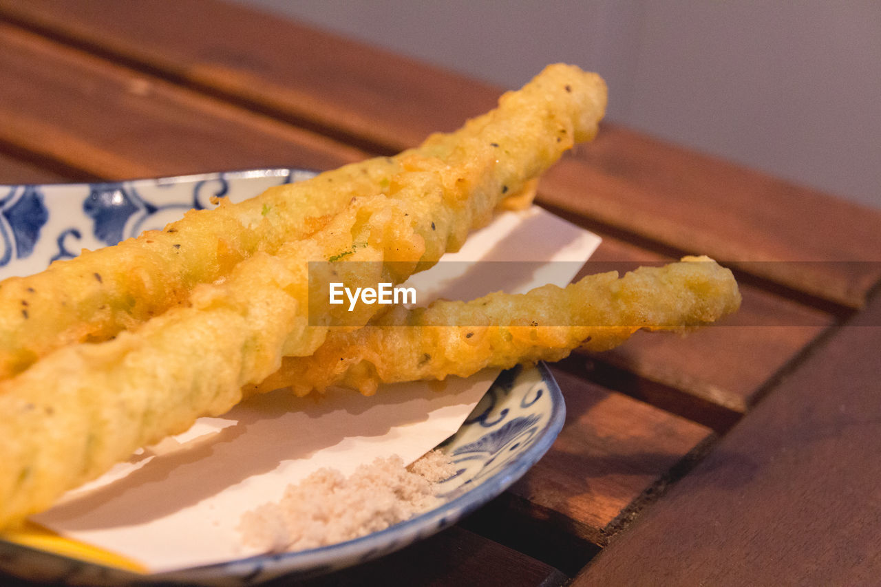 Close-Up Of Tempura Served On Plate
