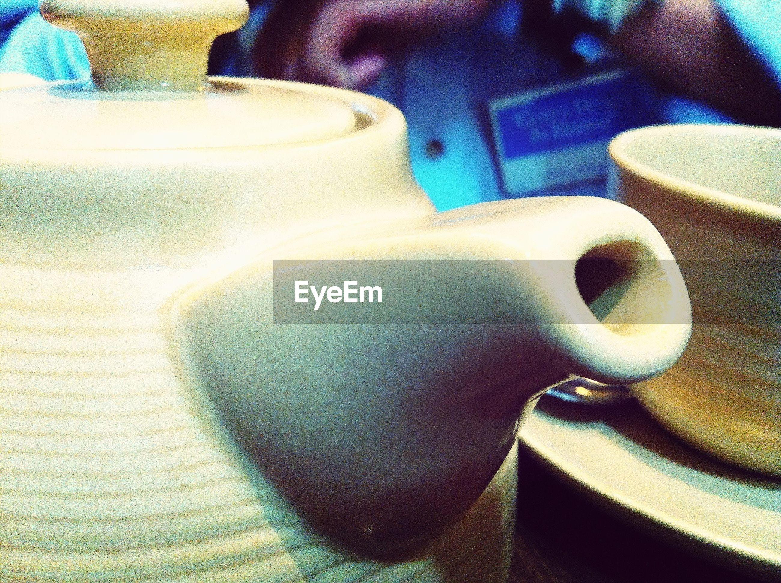 Close-up of tea pot