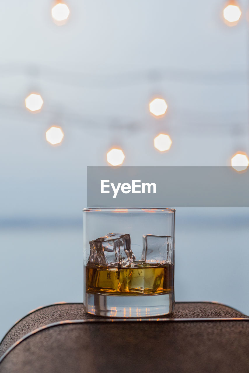 Close-Up Of Whiskey In Tumbler