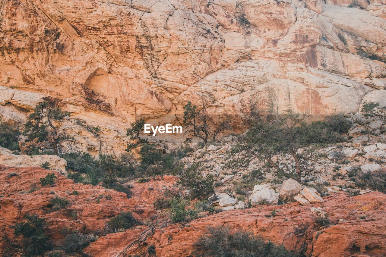 Full Frame Shot Of Desert Mountain Facade