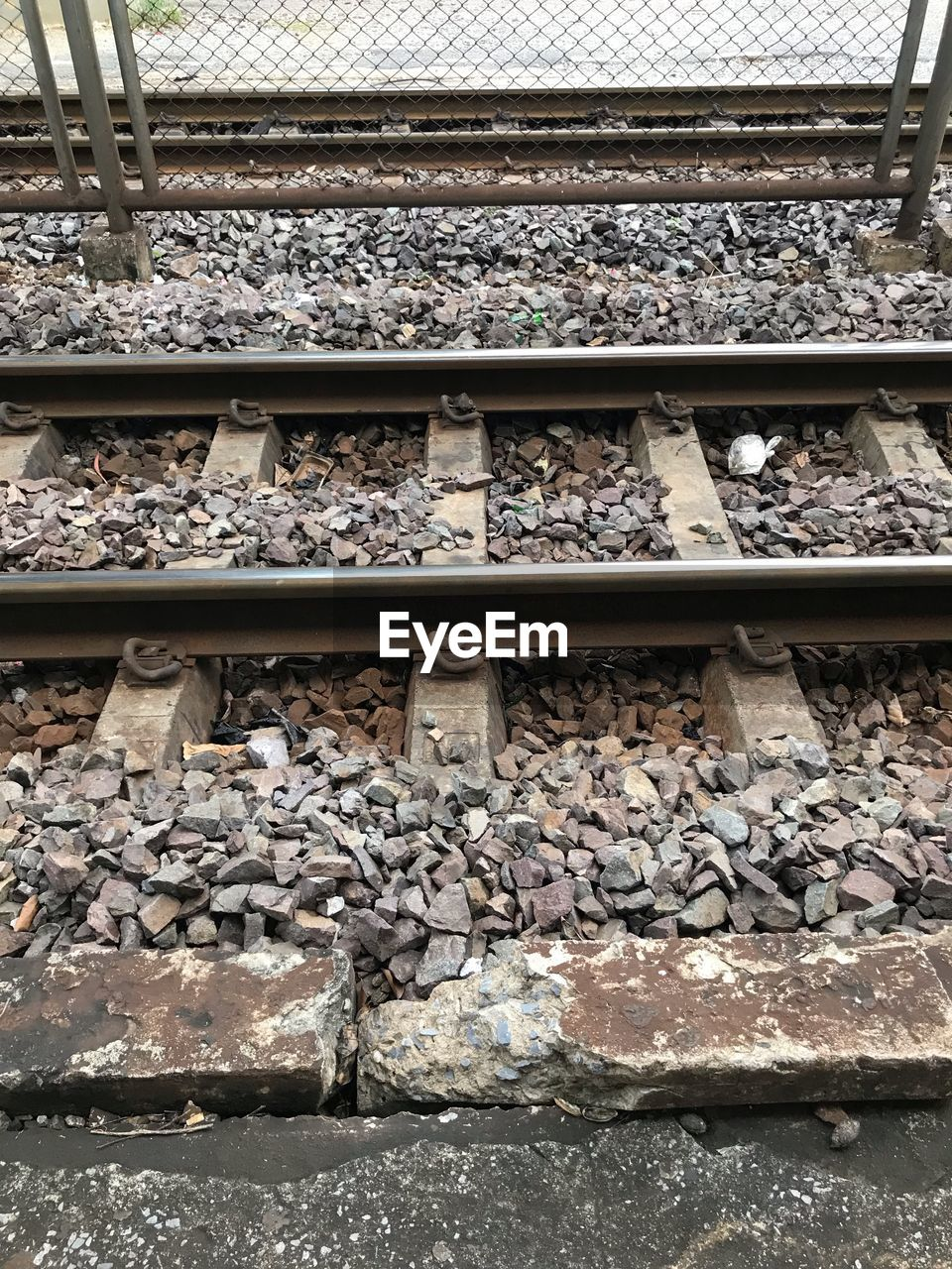 VIEW OF RAILROAD TRACKS AND TRACK