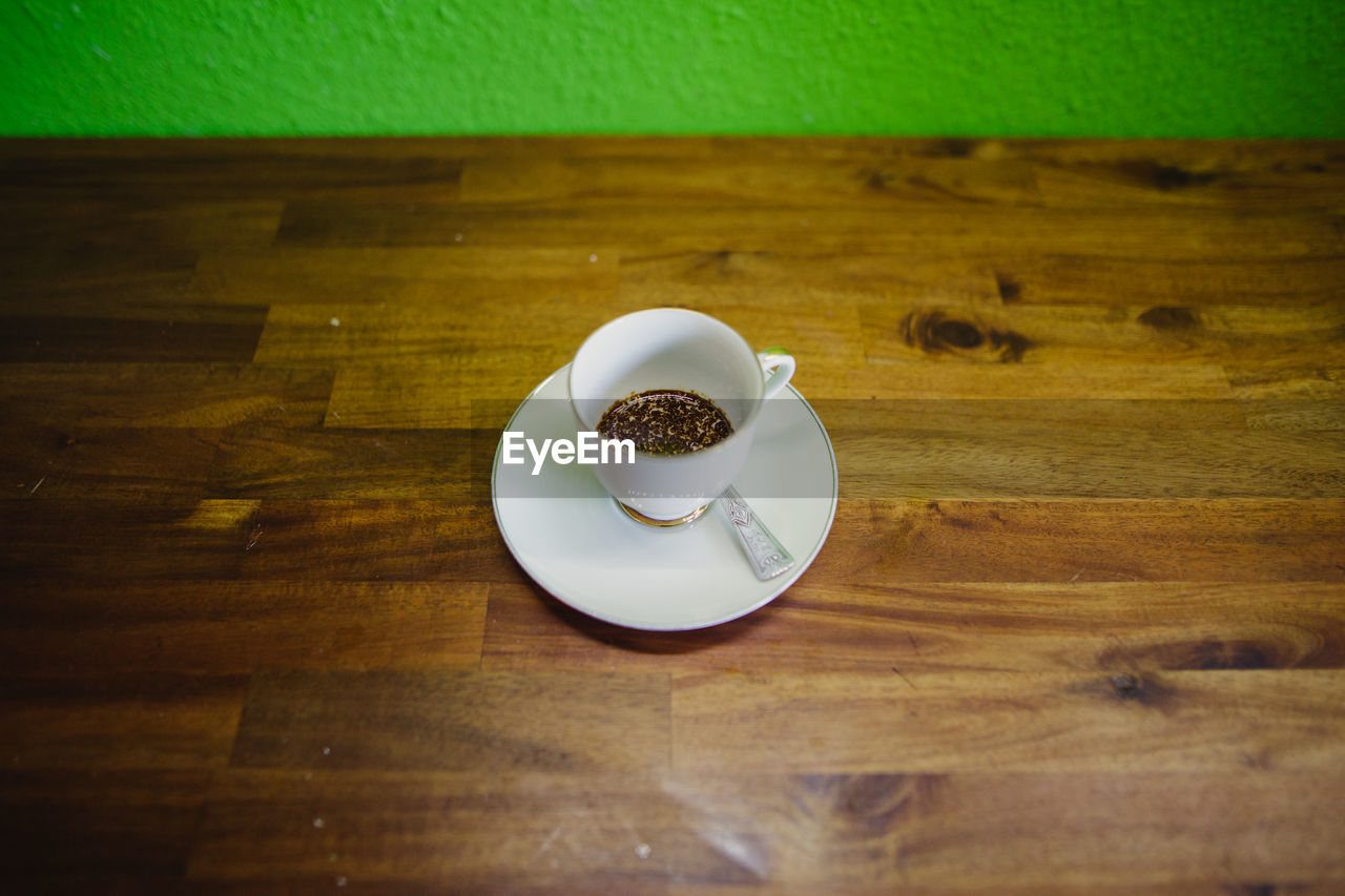 table, food and drink, indoors, wood - material, coffee cup, coffee - drink, plate, refreshment, drink, food, freshness, no people, close-up, day