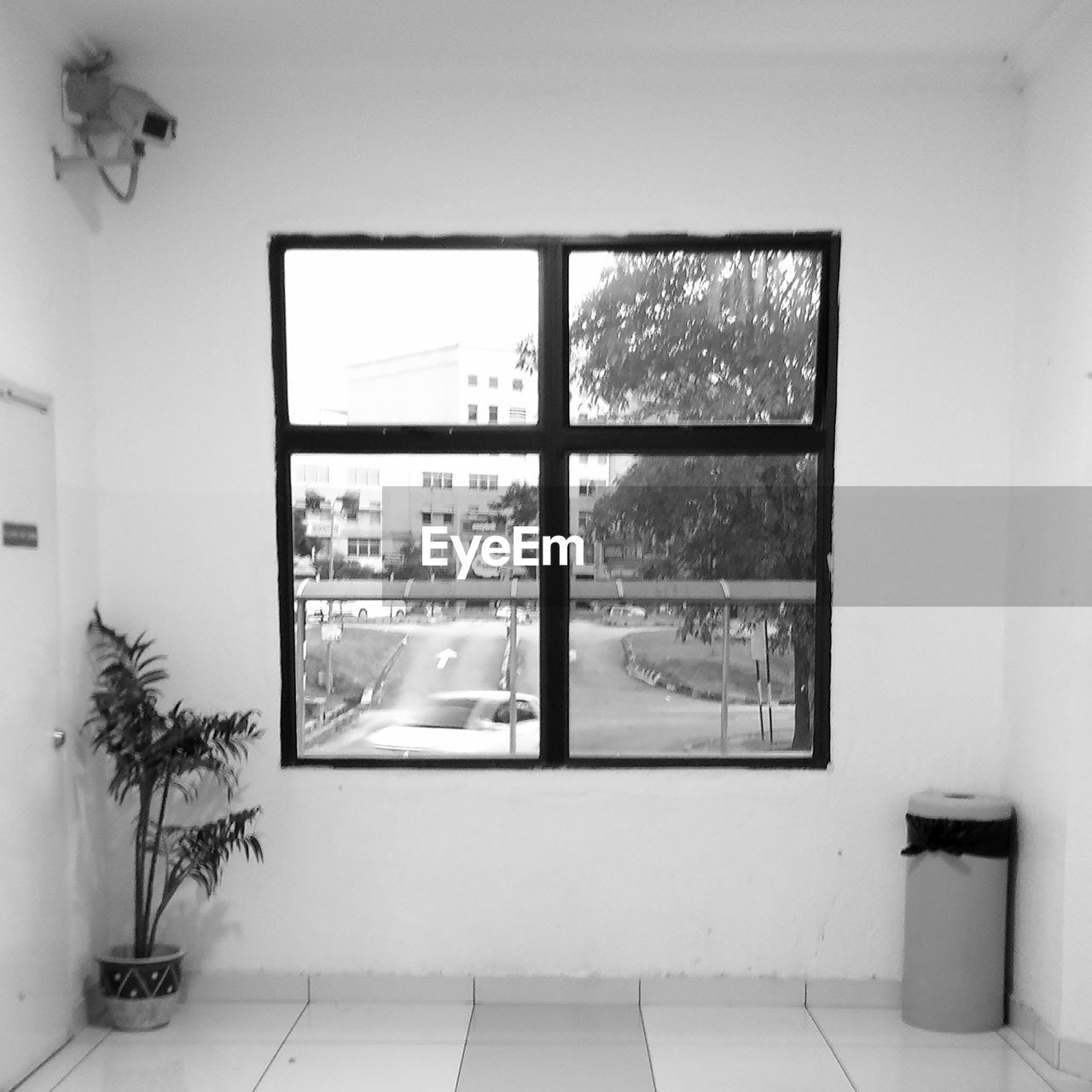 window, indoors, architecture, no people, glass - material, built structure, transparent, day, domestic room, plant, nature, home interior, building, tree, potted plant, city, house, sky, apartment, window frame