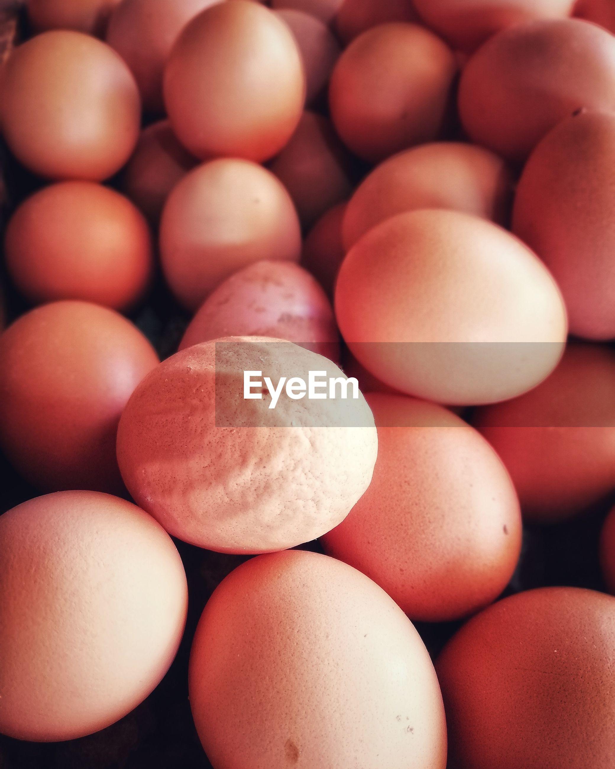 Full frame shot of eggs for sale