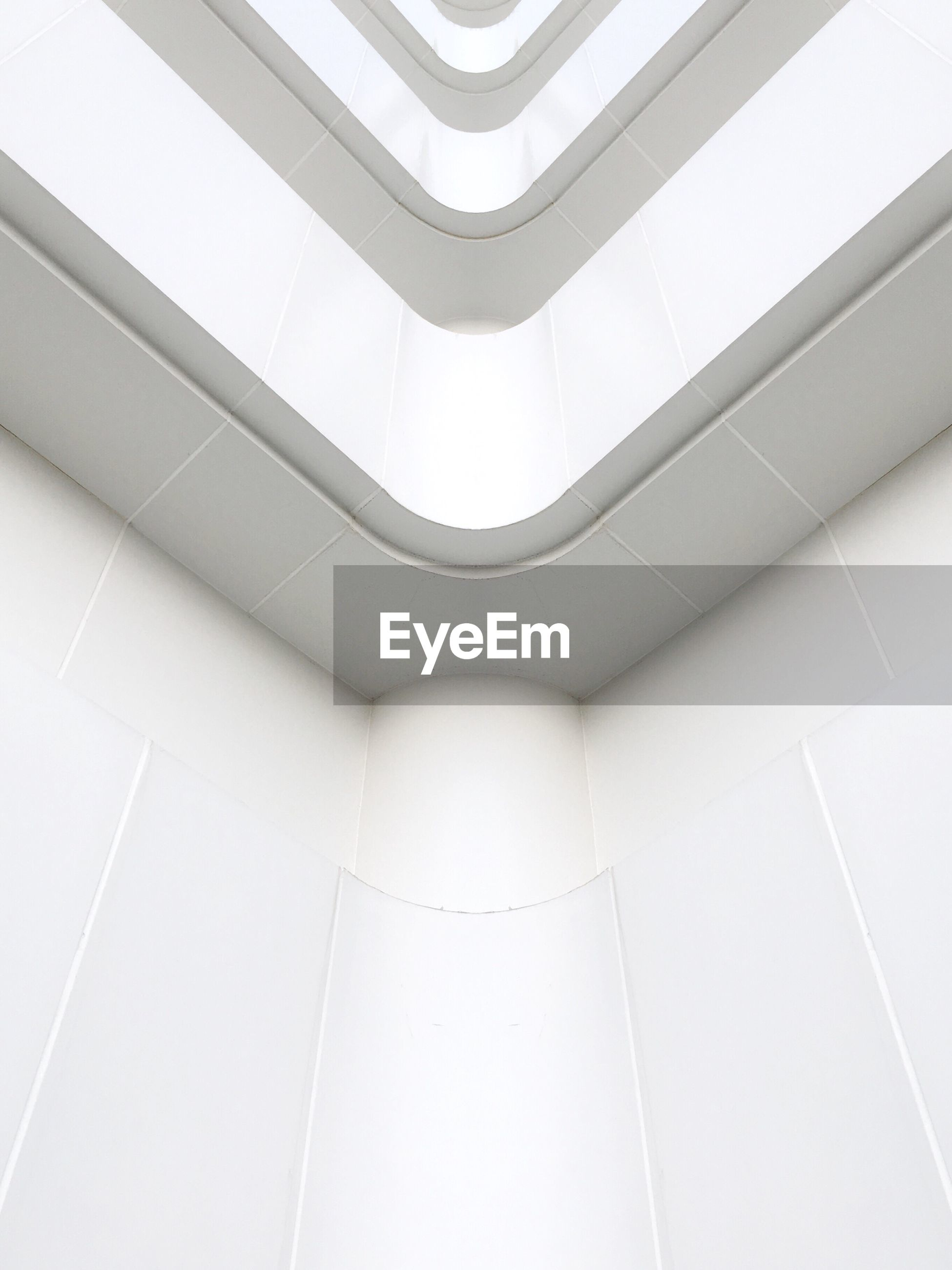 Architectural feature of white wall