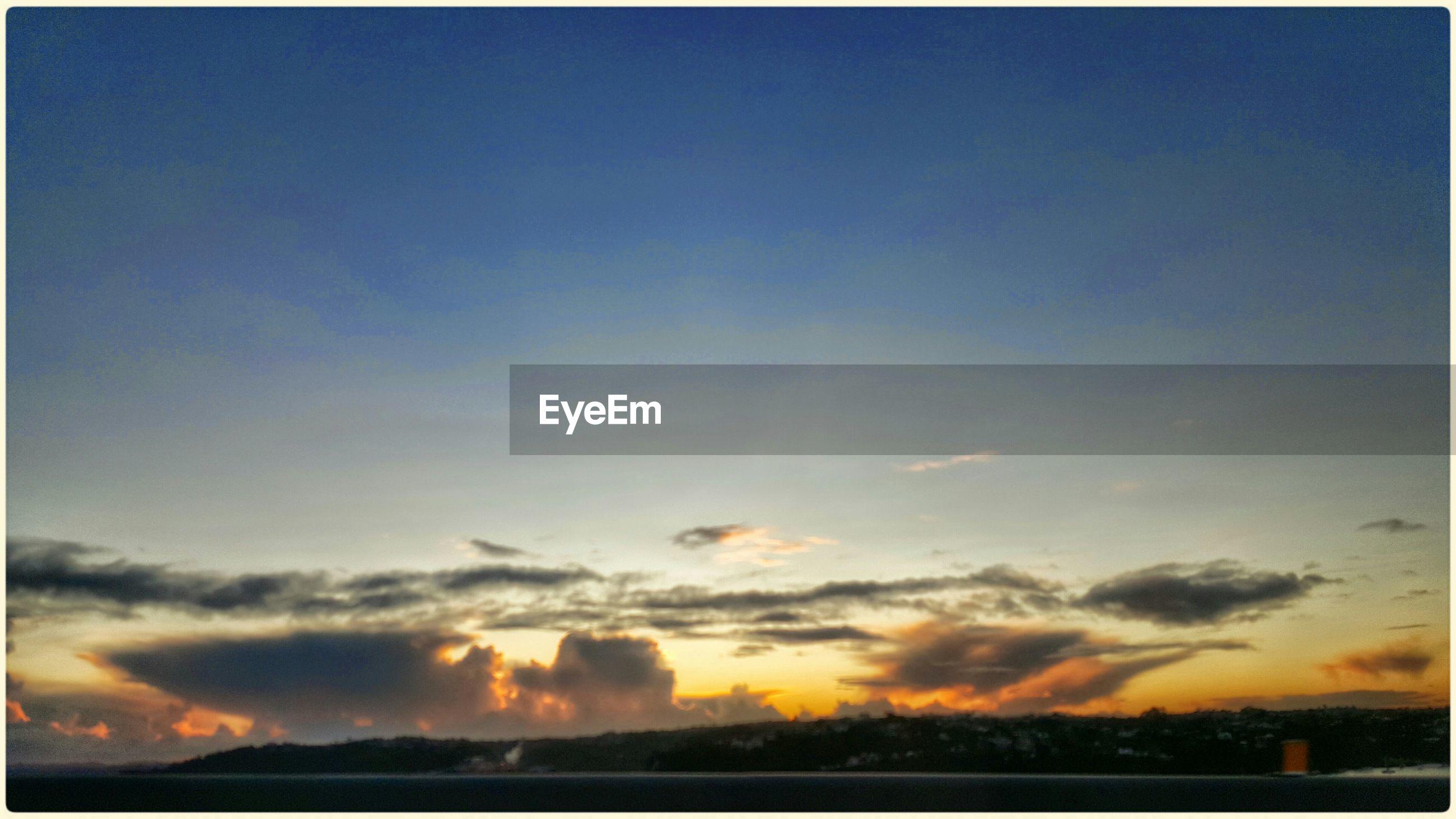 Landscape against scenic sky
