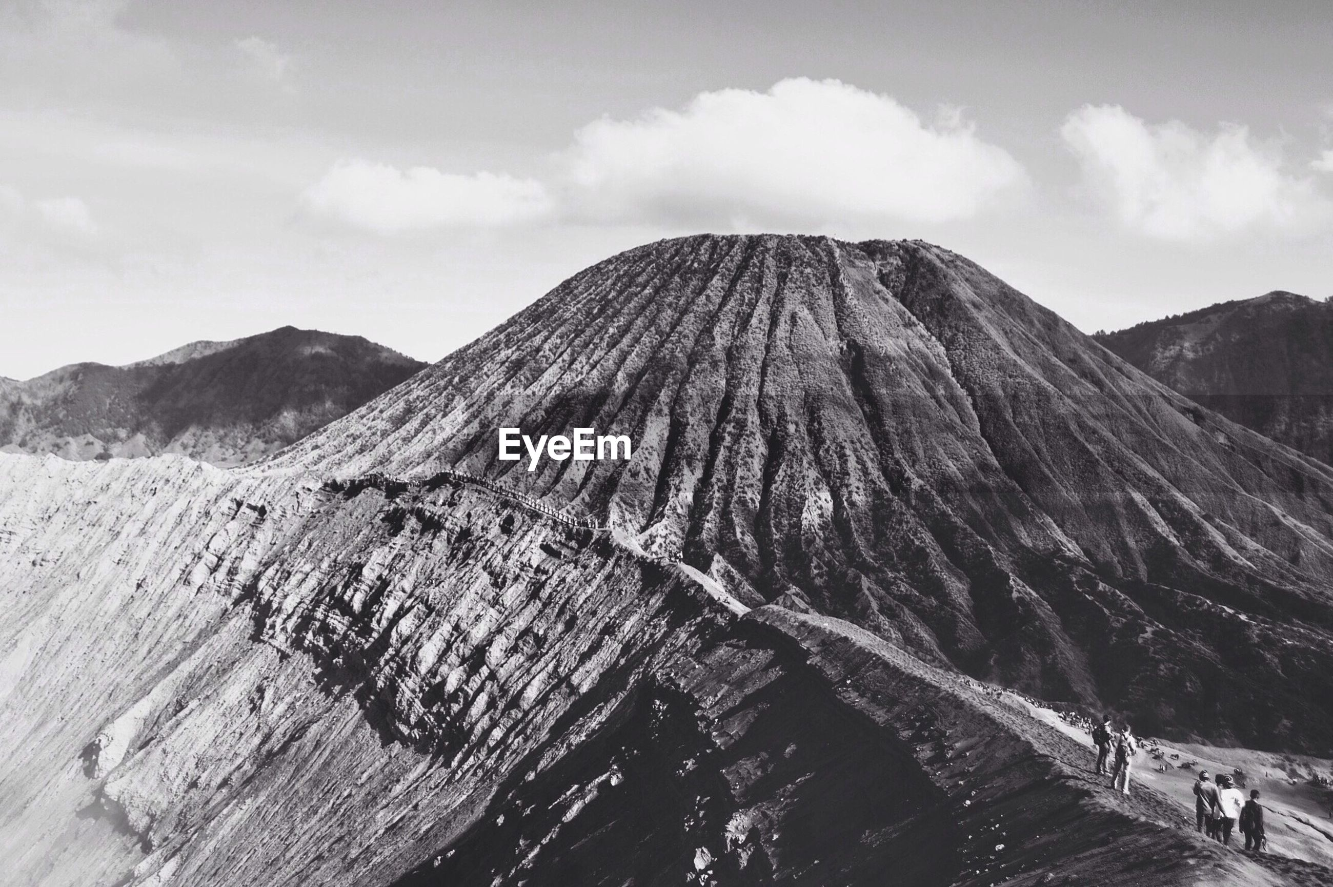 View of mt bromo against sky