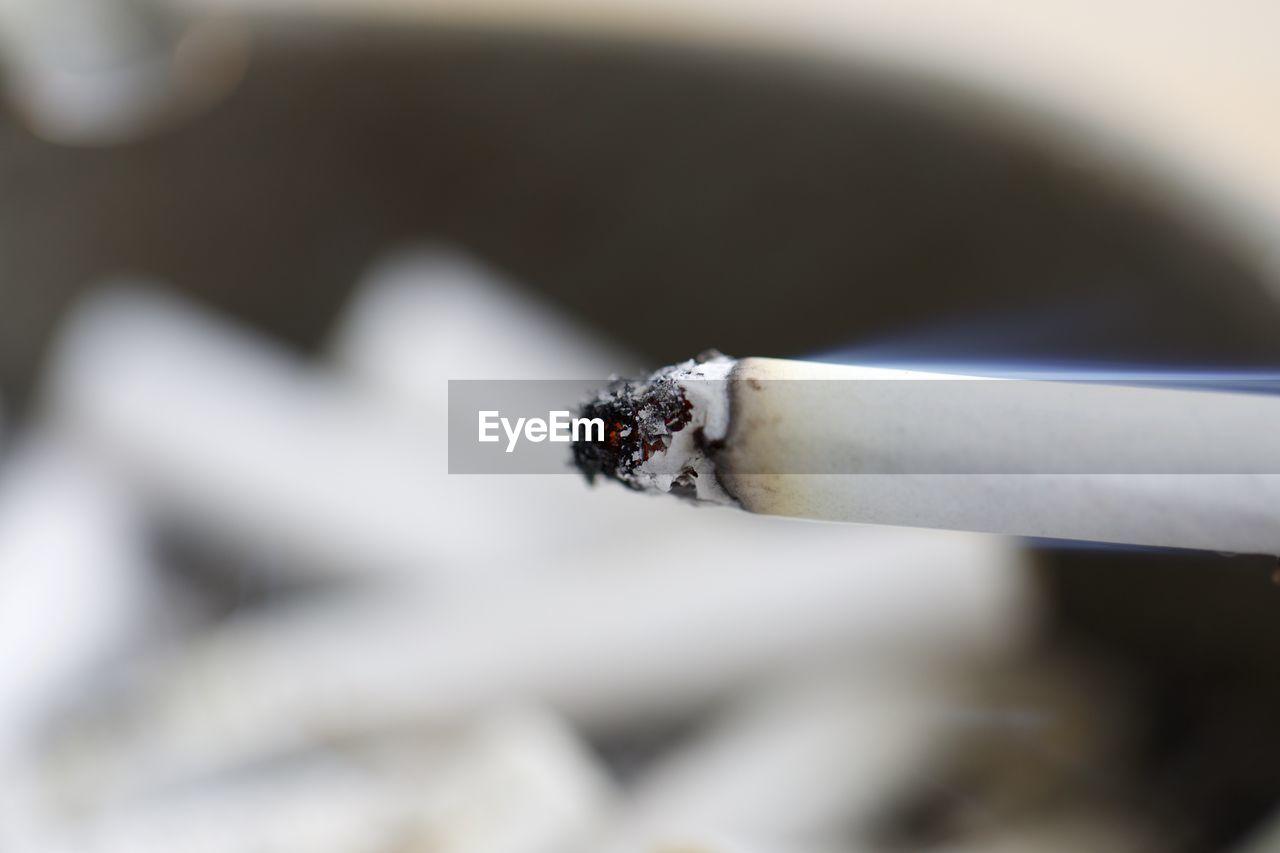 Close-up of burning cigarette