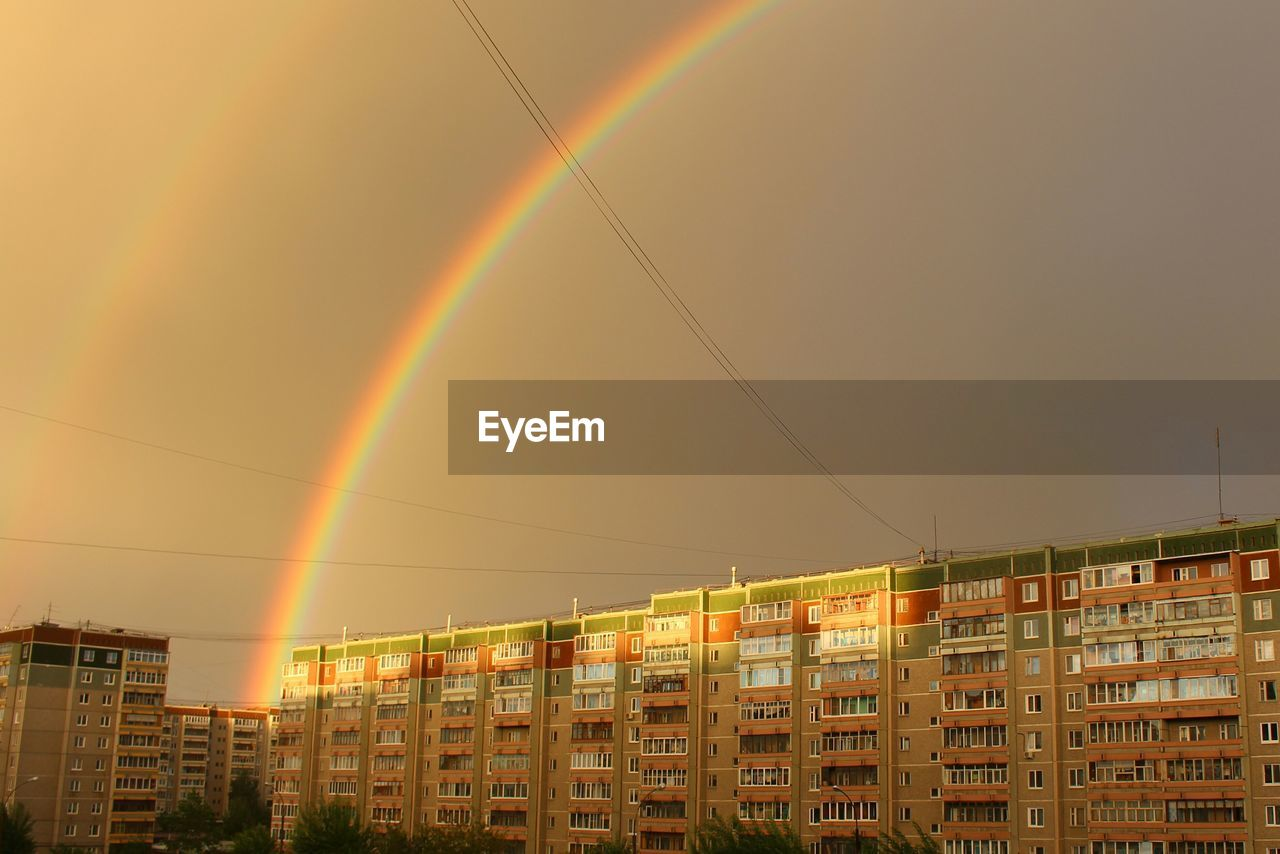 rainbow, architecture, no people, city, cityscape, outdoors, nature, sky, day