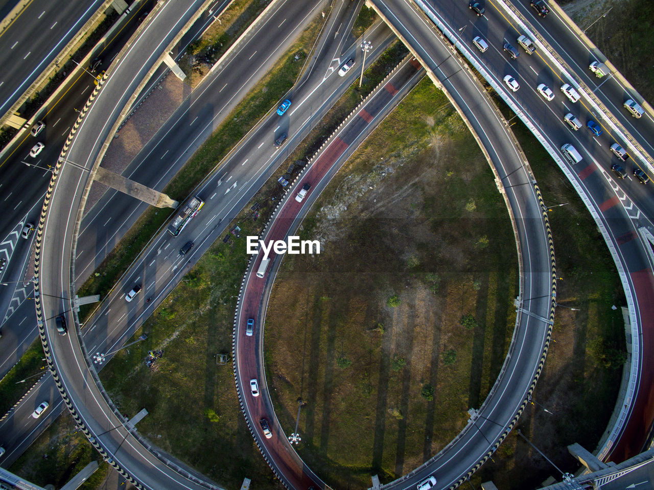 High Angle View Of Elevated Road