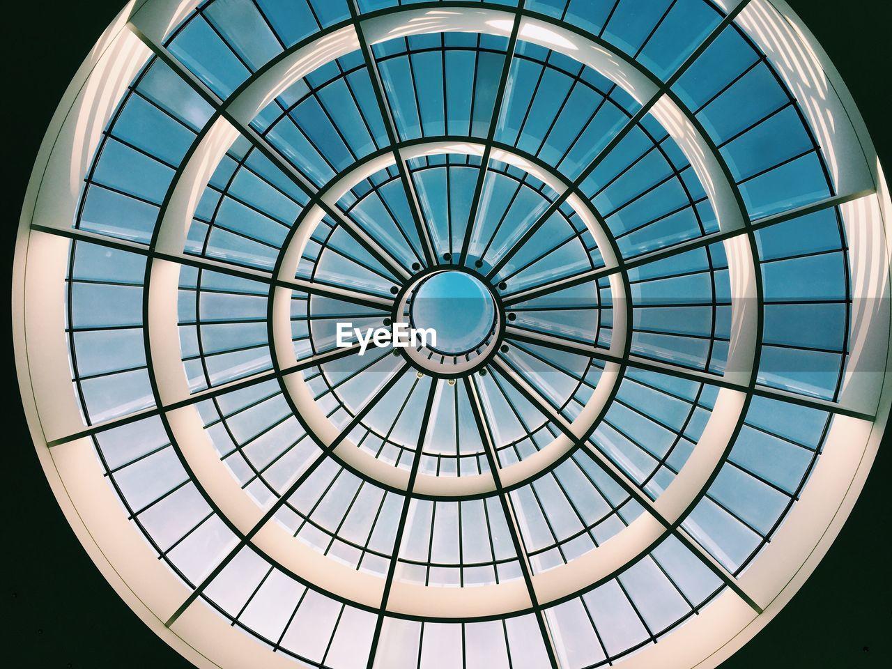 Directly Below Shot Of Skylight In Museum