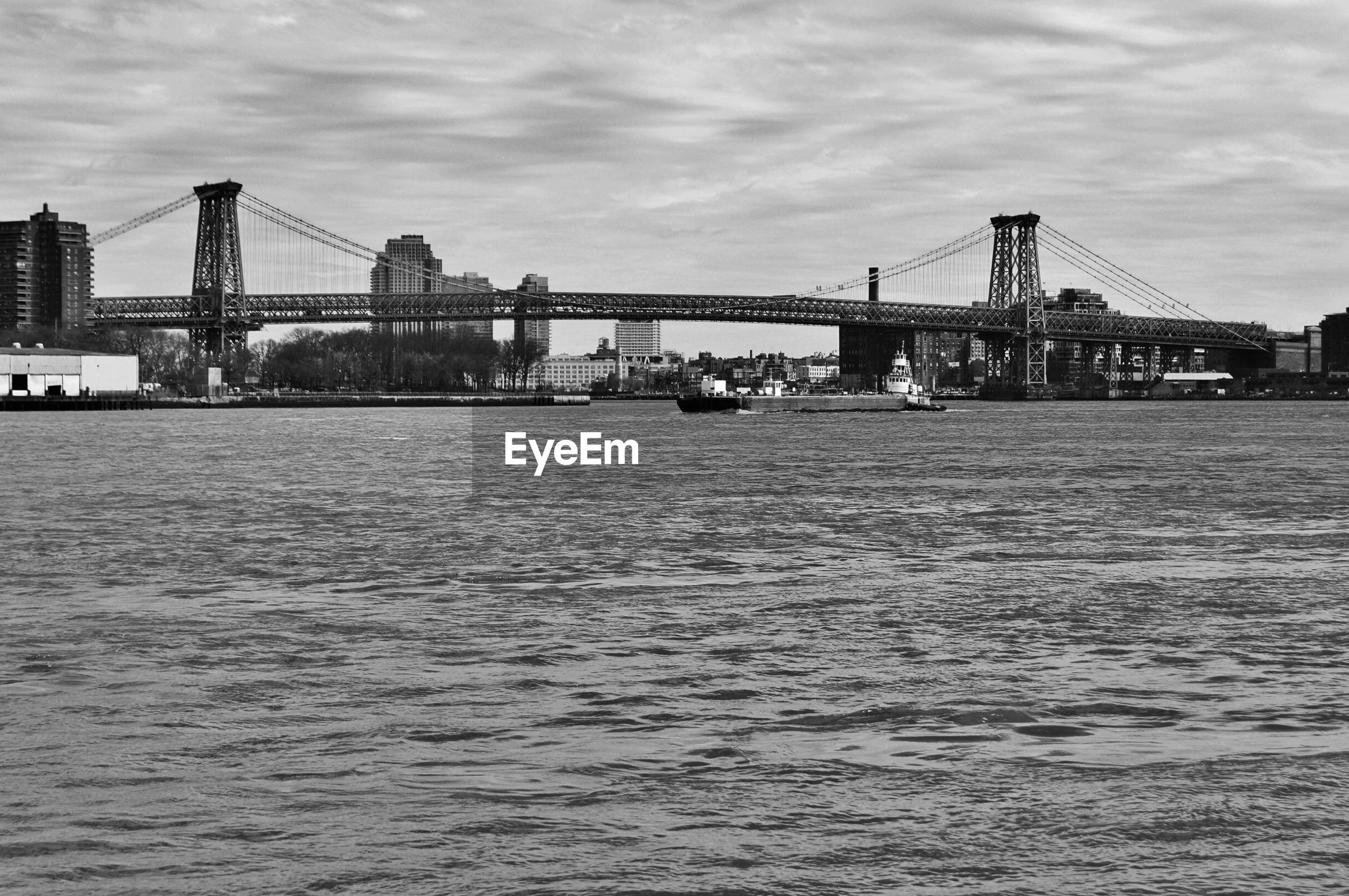 VIEW OF BRIDGE ACROSS RIVER