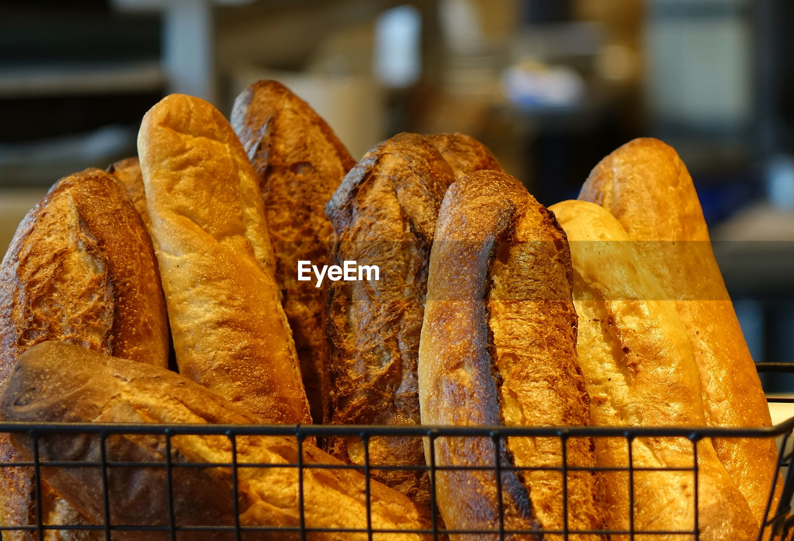 Close-up of breads for sale at store