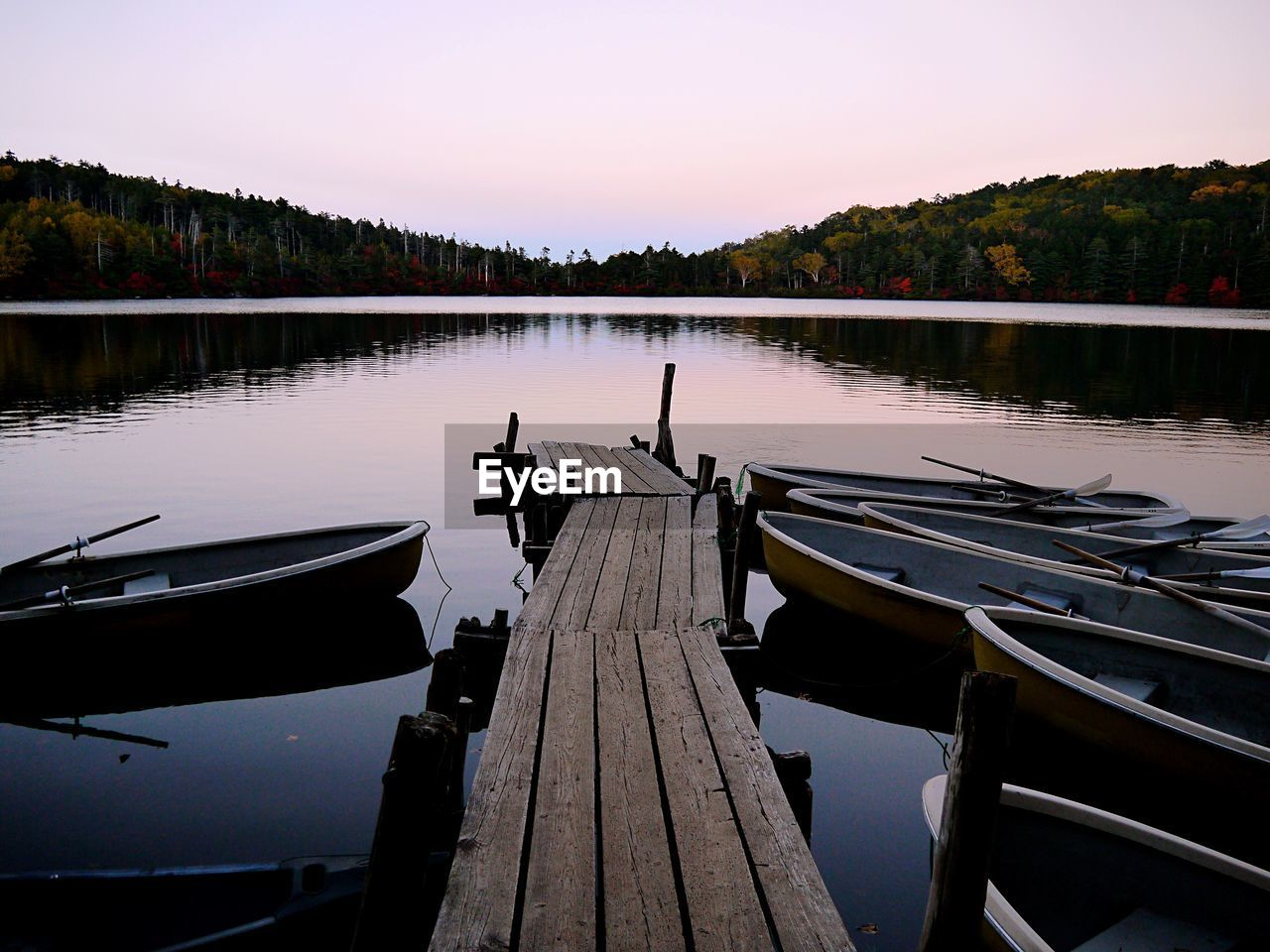 VIEW OF JETTY IN LAKE