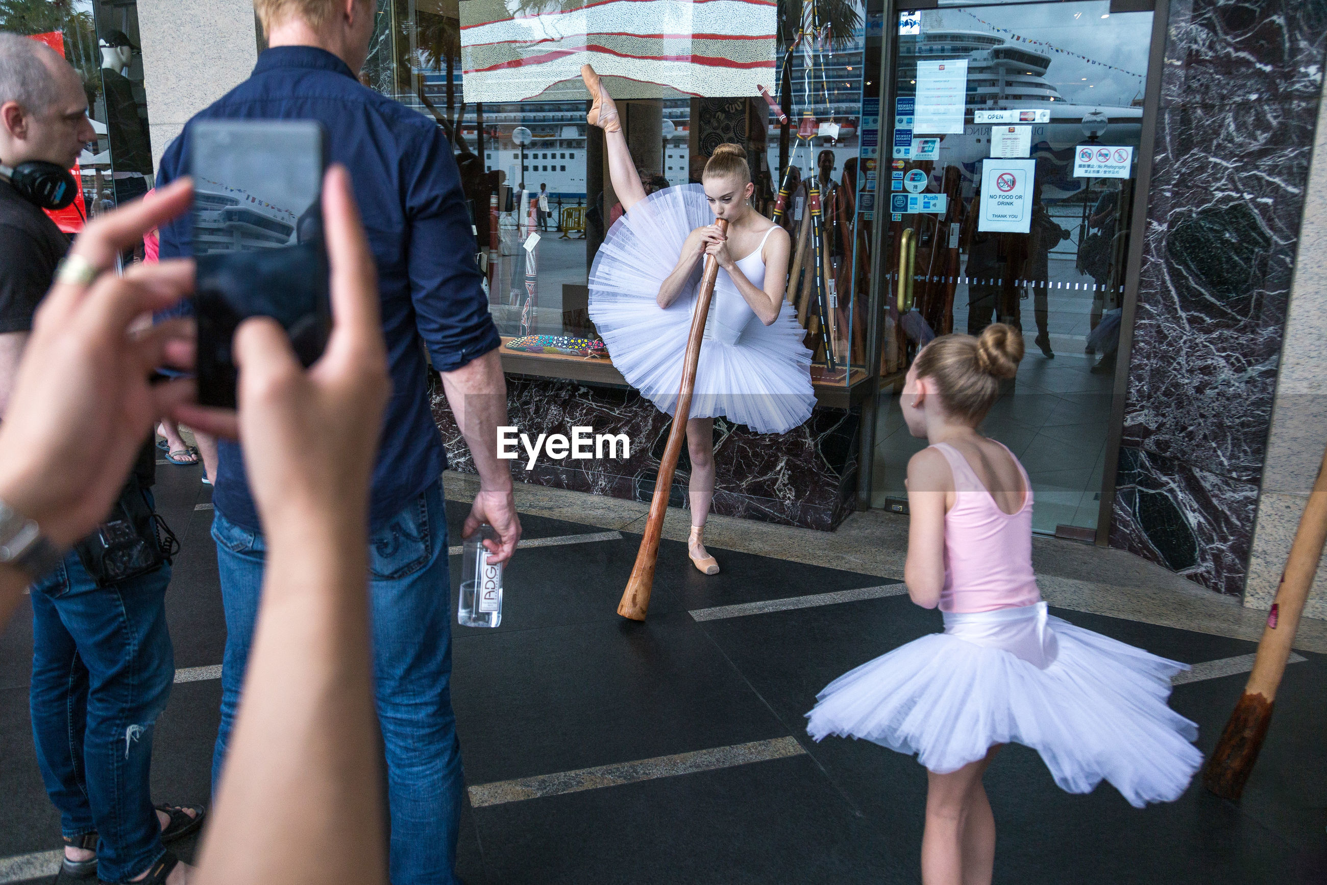 photographing, ballet, photography themes, ballet dancer, real people, leisure activity, girls, standing, childhood, outdoors, day, young adult, people