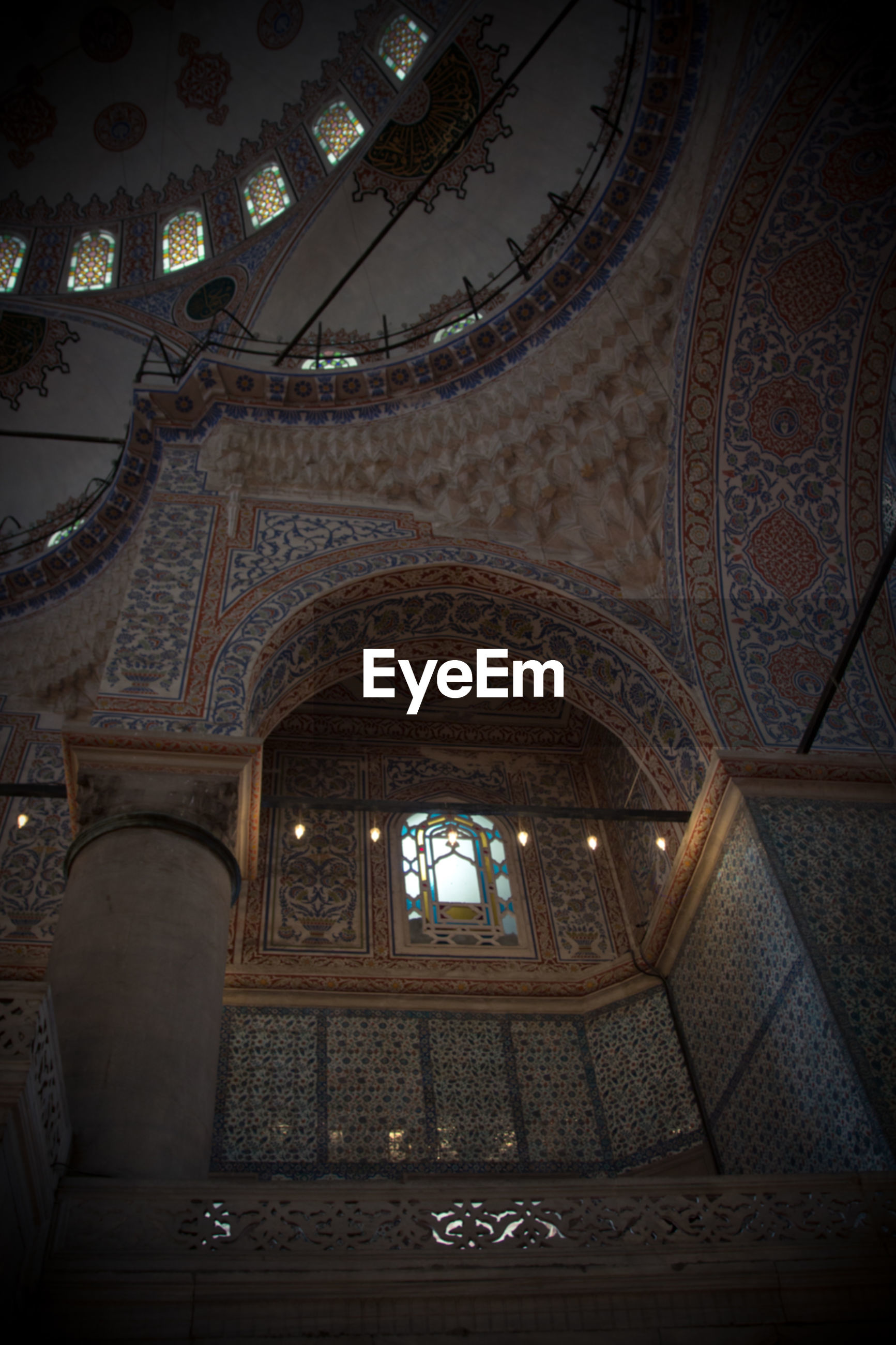 architecture, ceiling, indoors, window, history, travel destinations, low angle view, place of worship, built structure, dome, no people, day