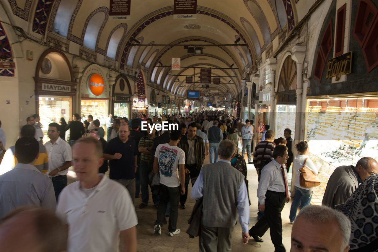 large group of people, men, real people, women, indoors, market, crowd, architecture, day, people, adult