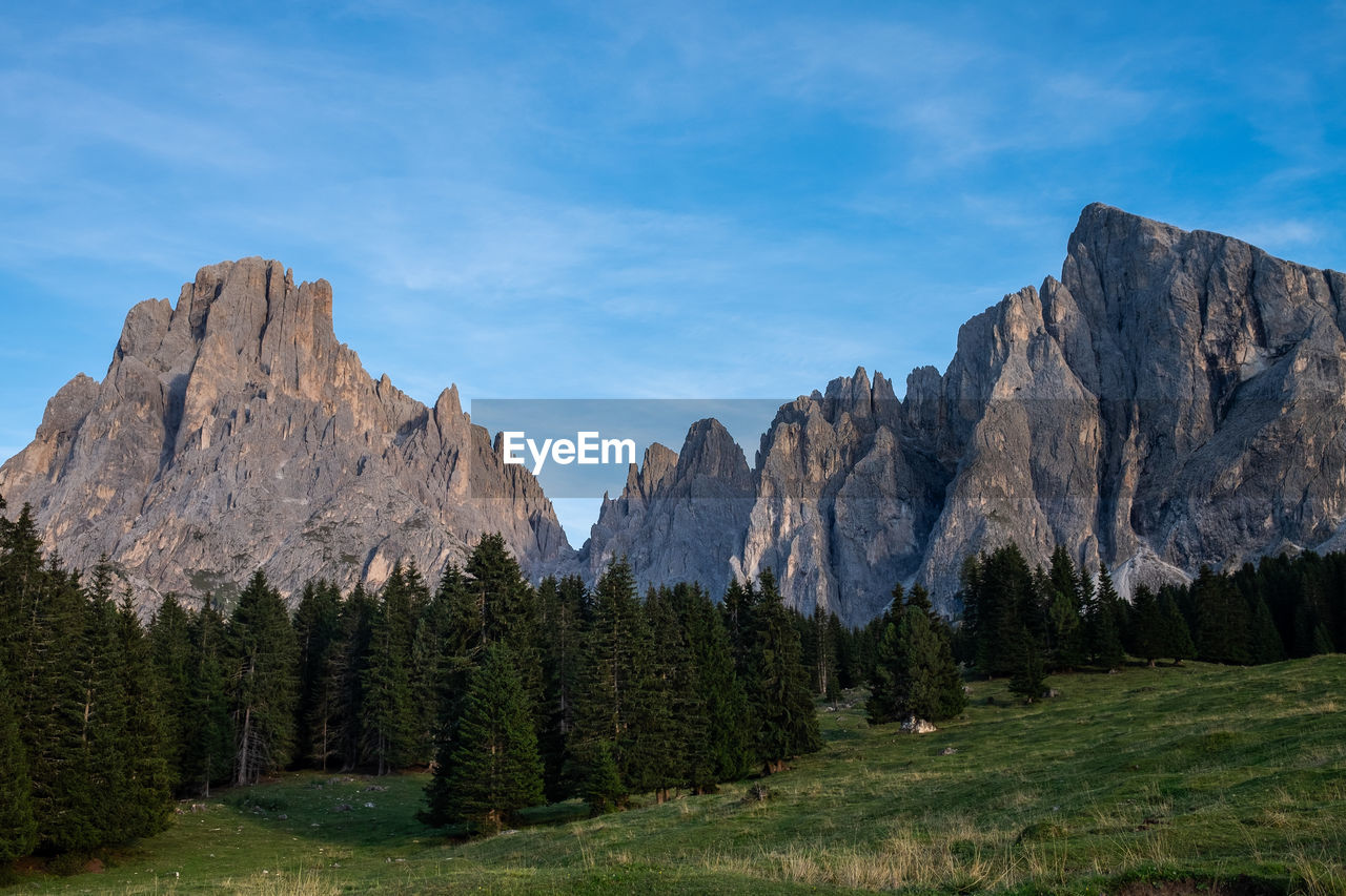 PANORAMIC VIEW OF LANDSCAPE AND MOUNTAIN AGAINST SKY