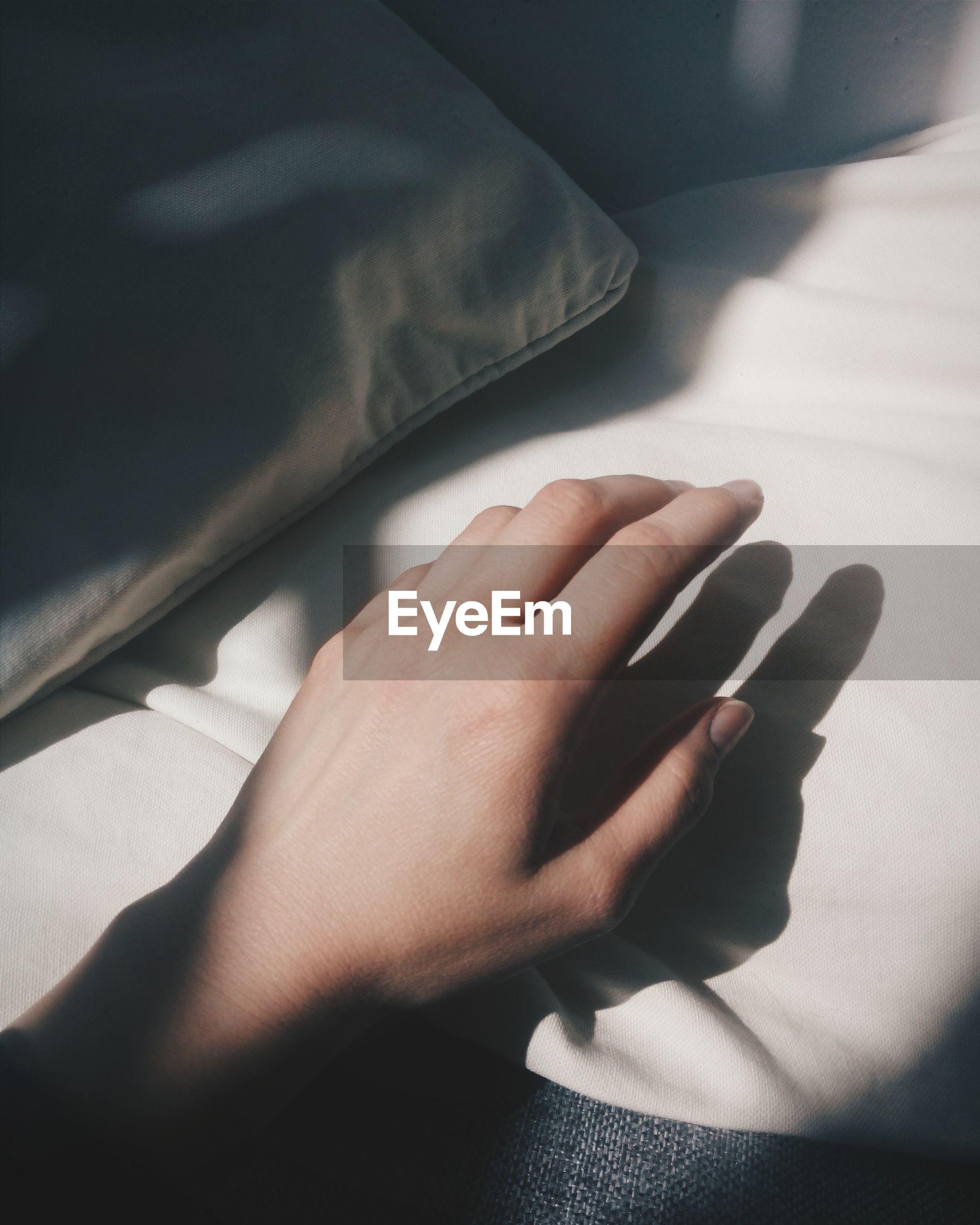 Close-up of boy's hand