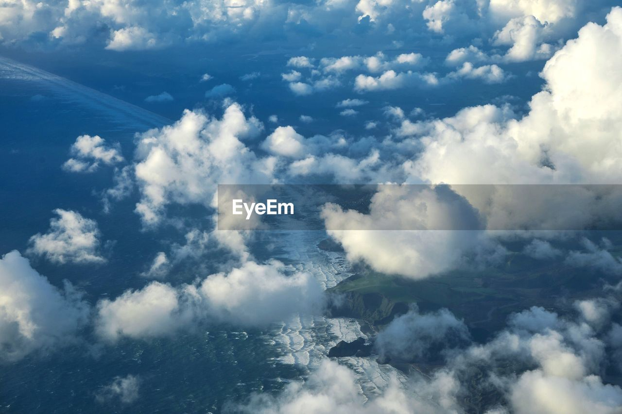 AERIAL VIEW OF CLOUDSCAPE OVER CLOUDS