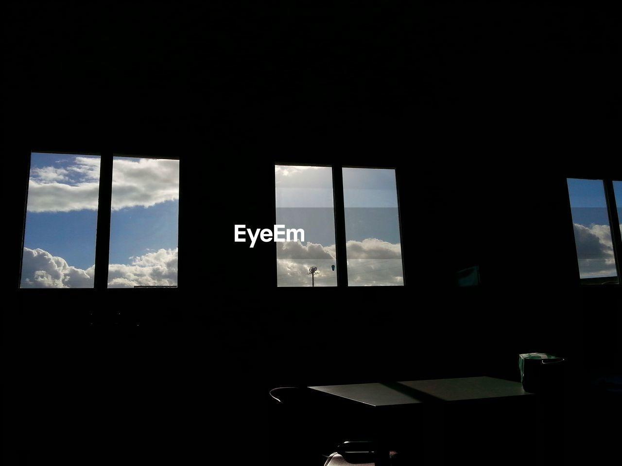 window, indoors, cloud - sky, no people, dark, sky, day, silhouette, nature, close-up