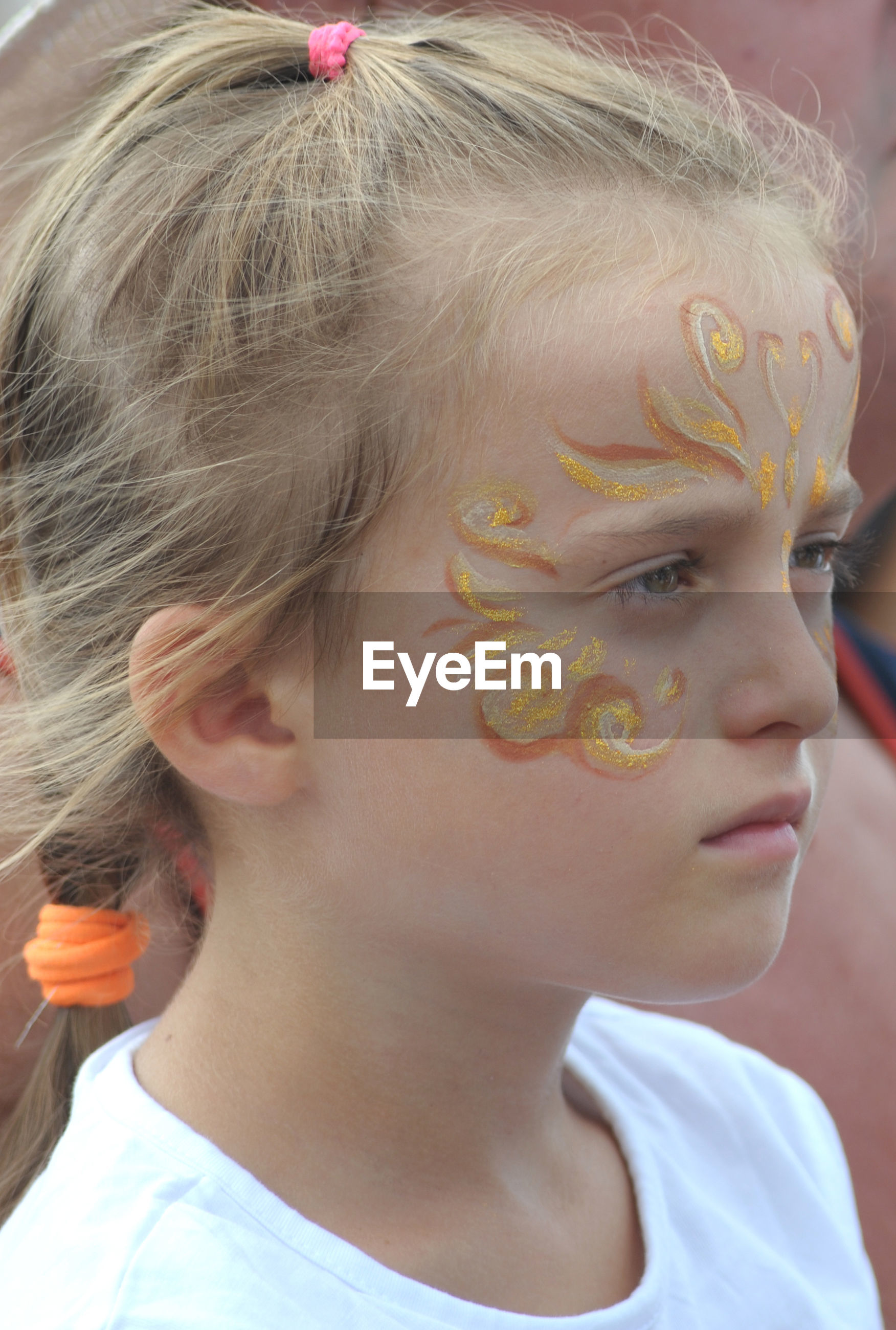 Close-up of girl with painted face