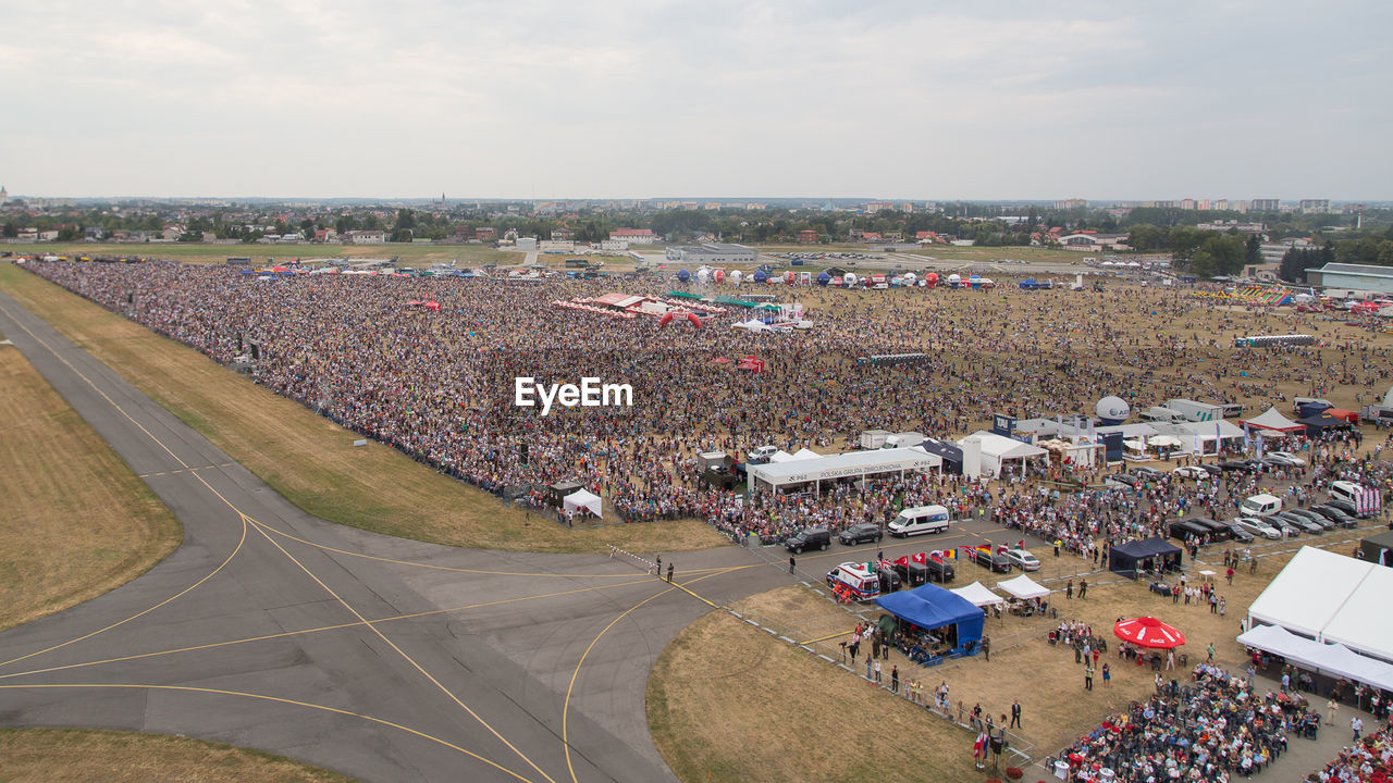 Aerial View Of Crowd Gathered For Radom Air Show