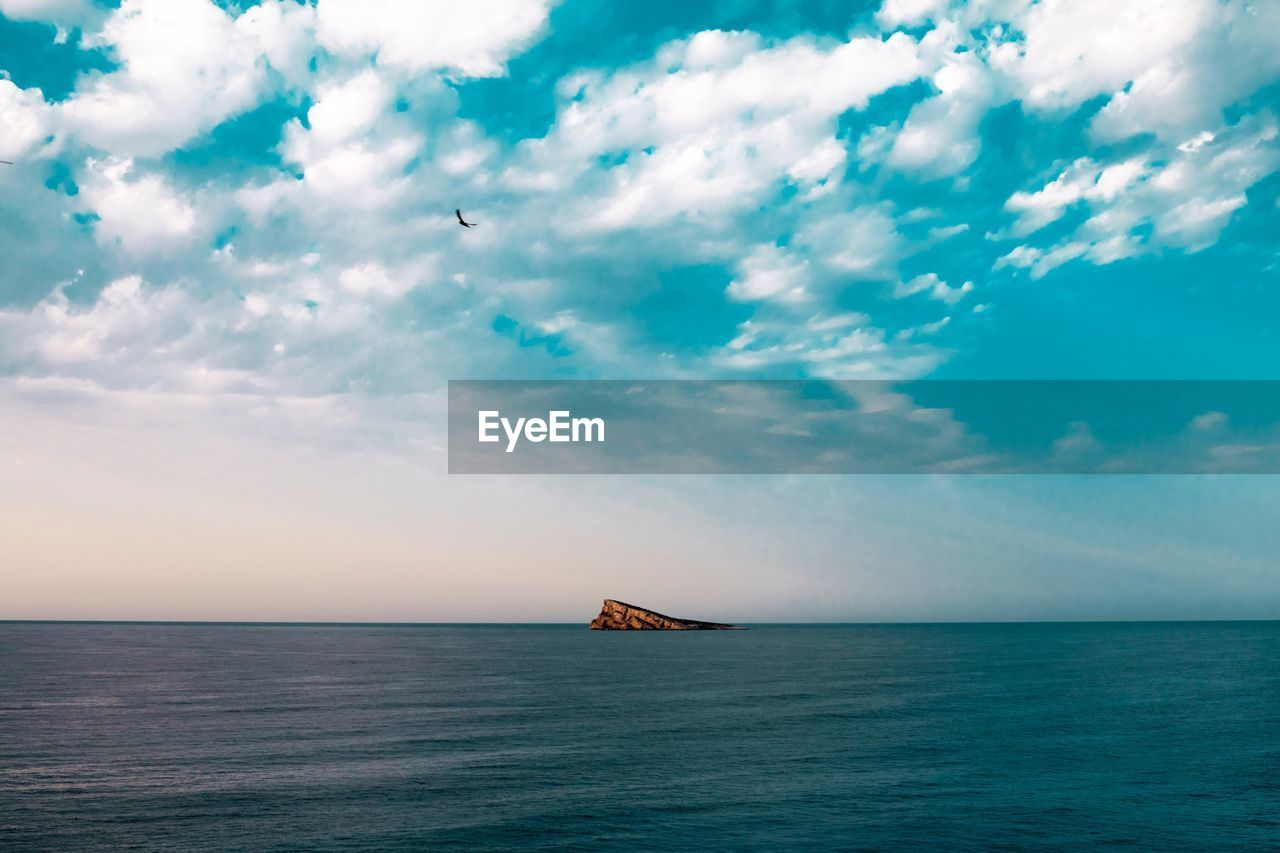 sea, sky, water, cloud - sky, waterfront, horizon over water, scenics - nature, horizon, beauty in nature, mode of transportation, transportation, nautical vessel, tranquil scene, tranquility, day, no people, nature, flying, idyllic, outdoors, sailboat