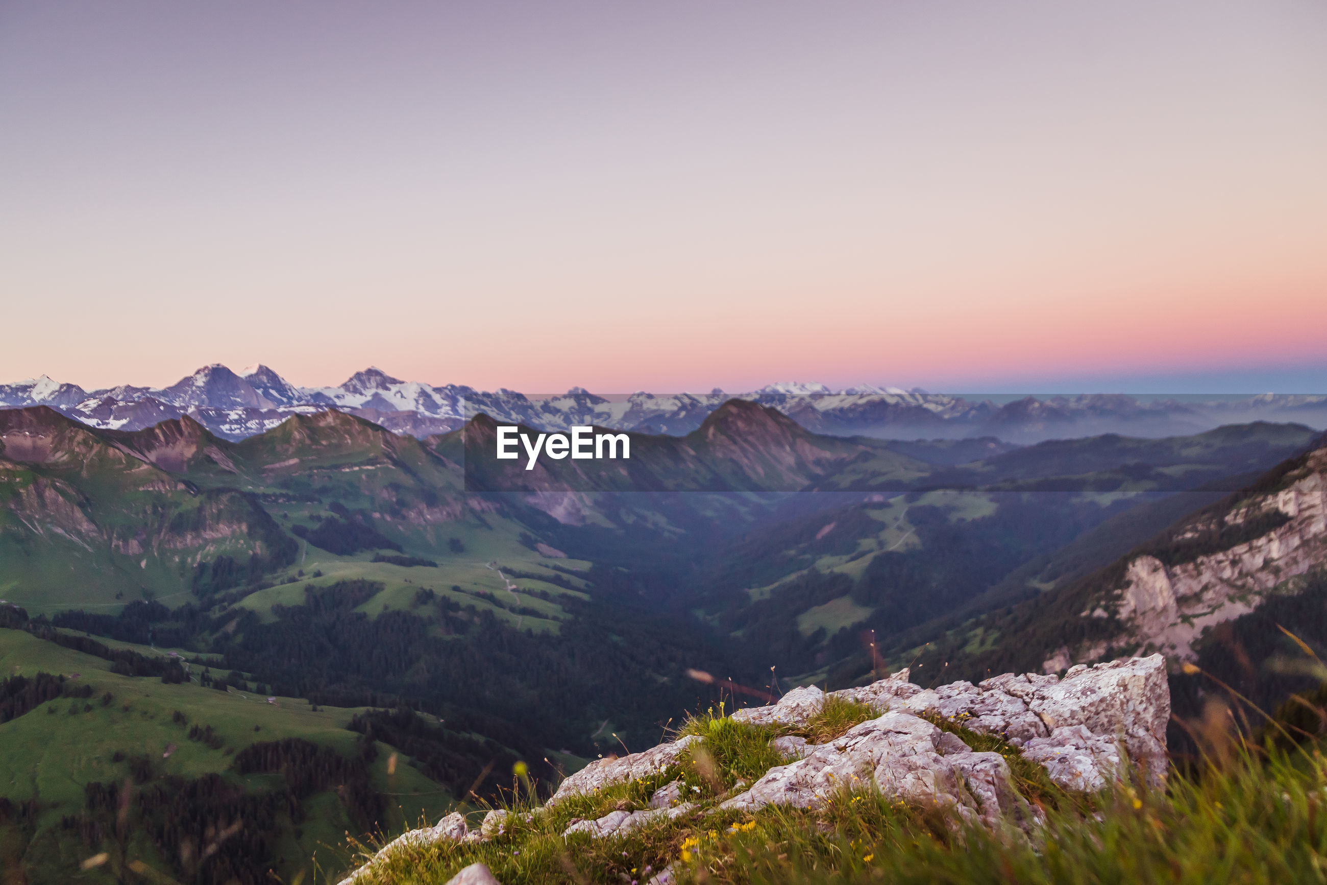 mountain, nature, tranquil scene, beauty in nature, scenics, tranquility, landscape, no people, outdoors, sunset, mountain range, sky, clear sky, day
