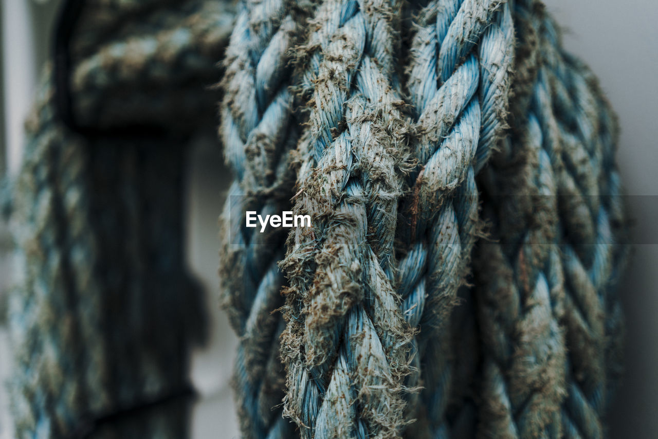 Close-up of old rope
