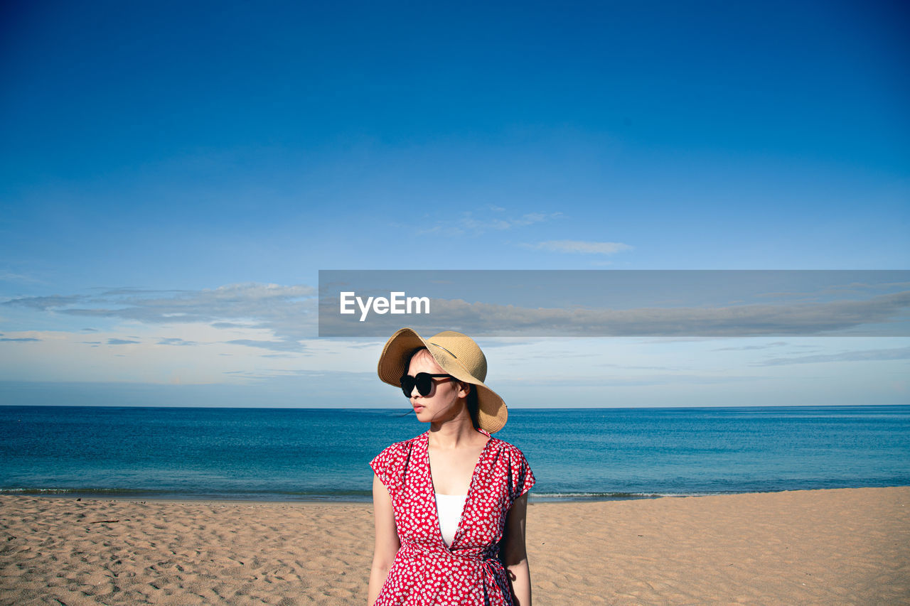 Woman in summer on the beach