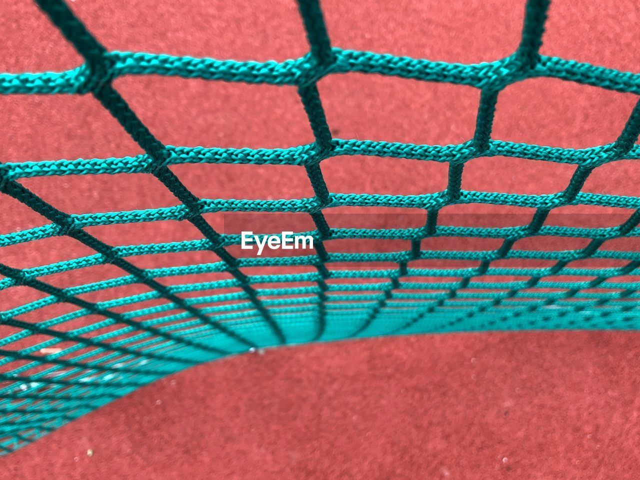 High Angle View Of Sports Net On Field