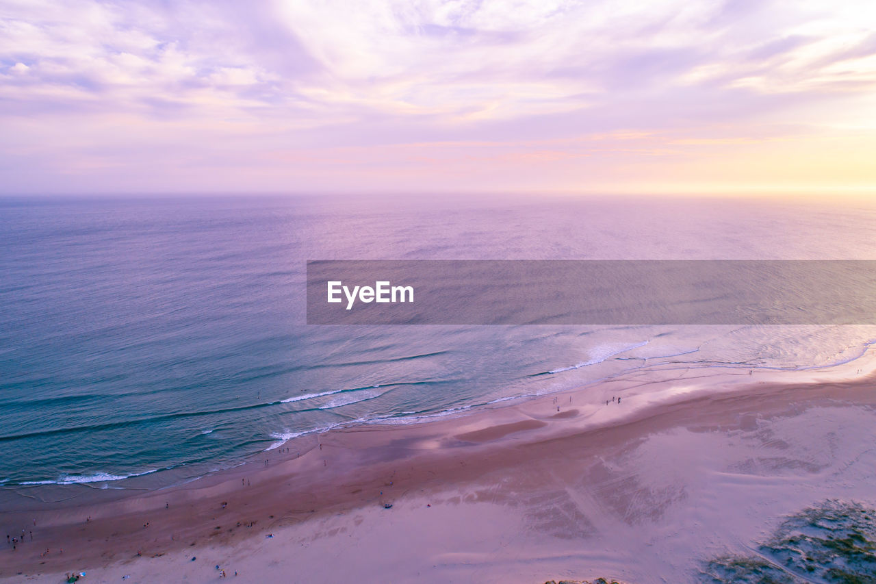 sky, beauty in nature, scenics - nature, sea, horizon, horizon over water, water, tranquil scene, cloud - sky, tranquility, nature, sunset, idyllic, beach, land, no people, non-urban scene, outdoors, remote
