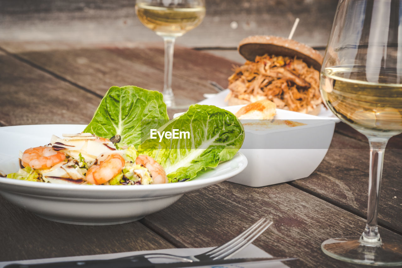 food and drink, food, table, freshness, healthy eating, ready-to-eat, kitchen utensil, vegetable, drink, eating utensil, wellbeing, bowl, plate, refreshment, glass, no people, indoors, fork, close-up, still life