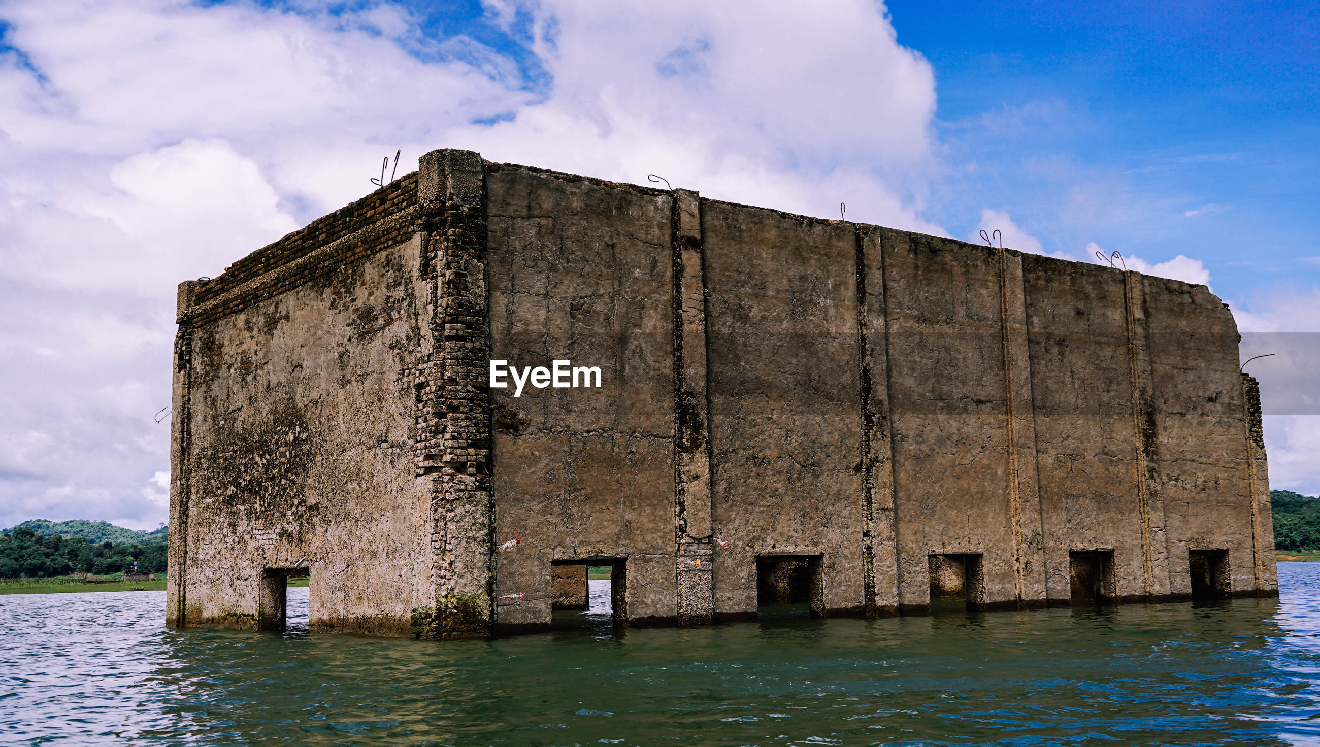 OLD BUILDING AT SEA