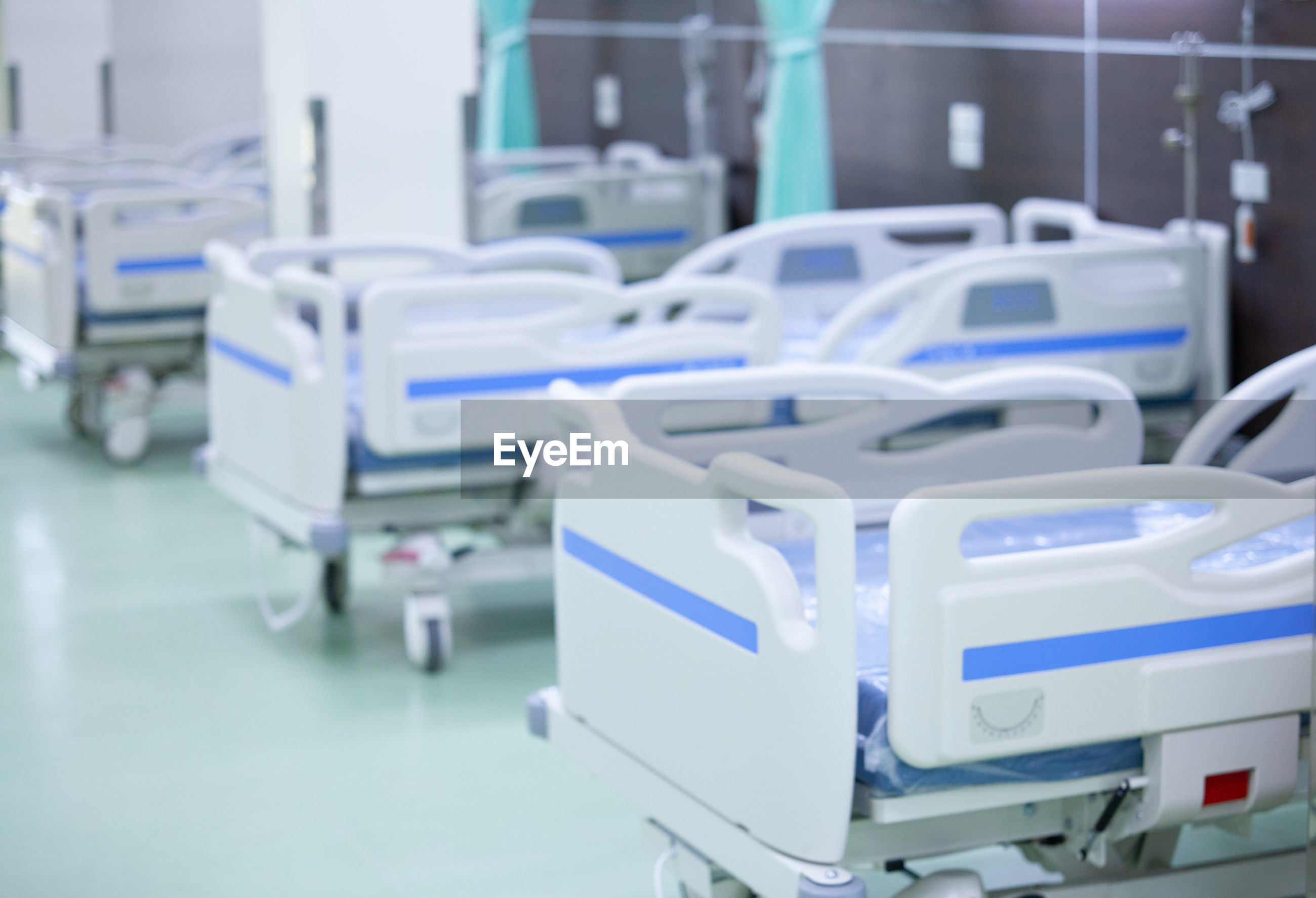 Empty beds in hospital