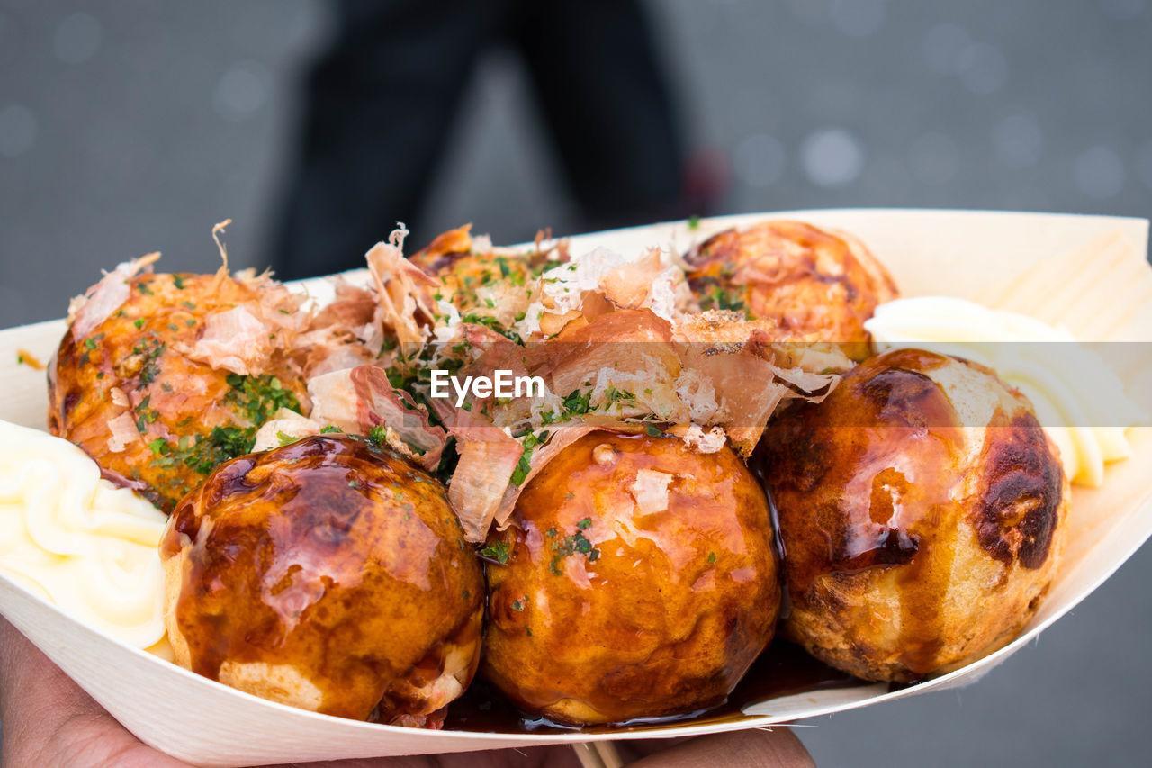 Close-Up Of Sweet Dumplings On Plate