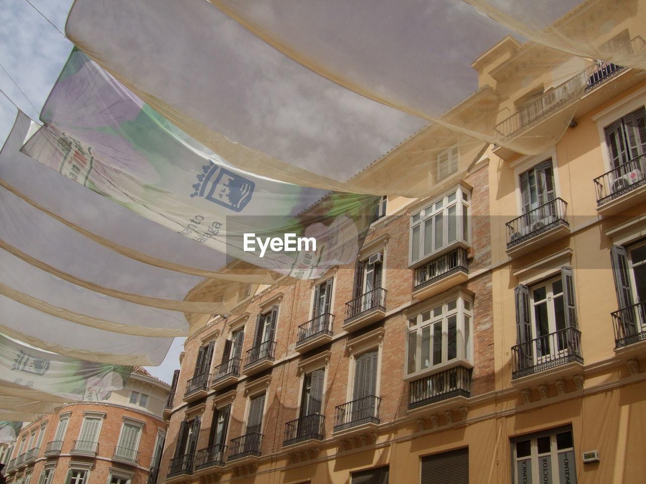Fabrics against residential buildings